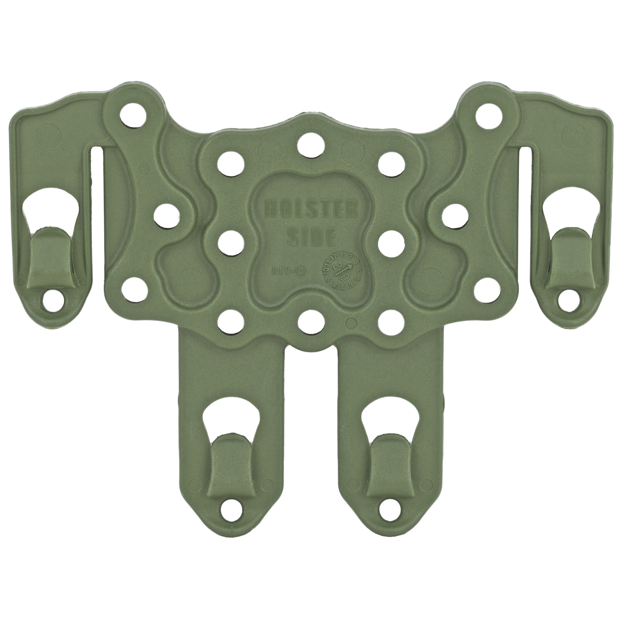 """Designed to fit any BLACKHAWK(R) injection-molded concealment holster at any angle"""" the S.T.R.I.K.E.(R) Platform can be mounted to any S.T.R.I.K.E.(R) or PALS/MOLLE web system. Holds rail-mounted accessories such as mag cases"""" light cases"""" knife sheaths"""" etc."""