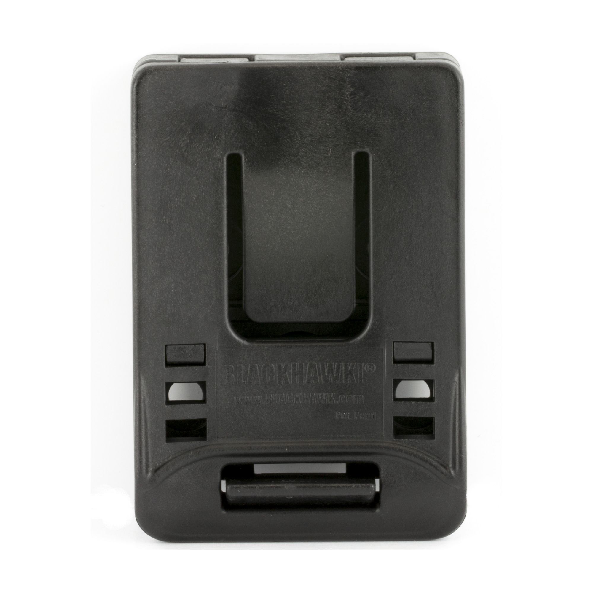 """Designed to fit any BLACKHAWK(R) injection-molded duty holster"""" it allows easy attachment of the holster to your duty belt without unthreading other gear. Mod-U-Lok platform and included screws."""