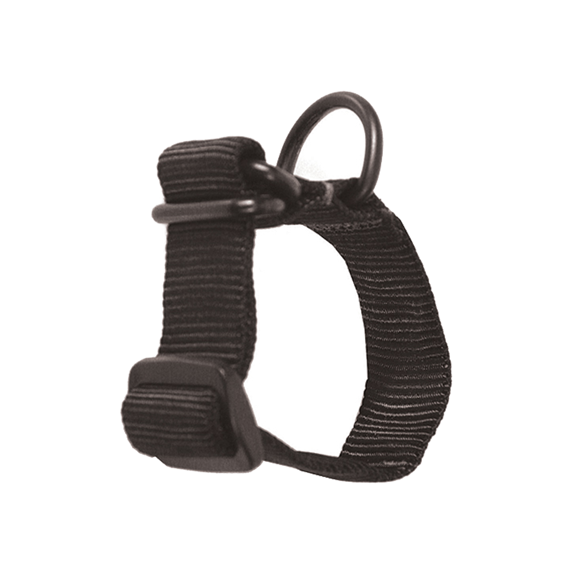This adapter configures any weapon to accept a single-point sling.