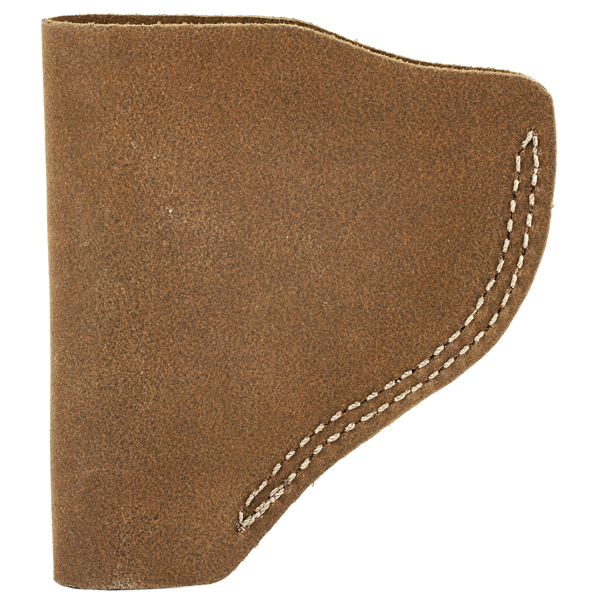 This ultra lightweight inside the waistband holster is made of a soft suede with an open top for quick access to the weapon. The heavy duty spring-steel clip holds the holster firmly to the belt or waistband for a secure draw.