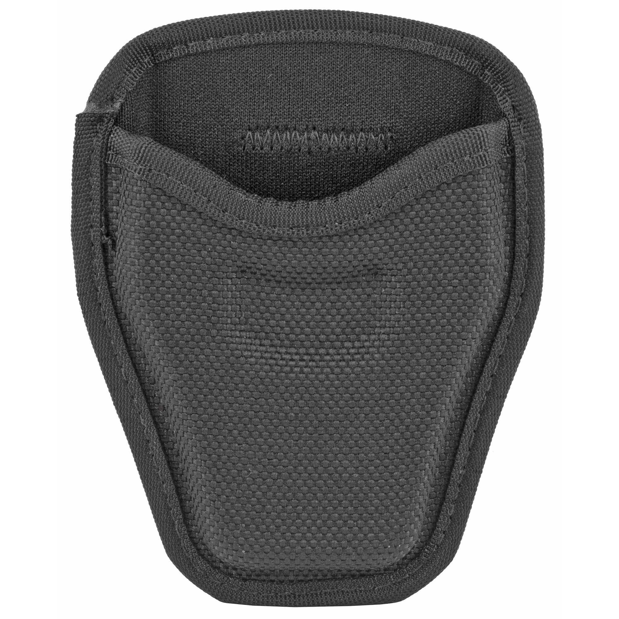 The Model 7334 AccuMold(R) Open Handcuff Case features a pull through style for easy access to the cuffs. Made of AccuMold(R) trilaminate construction with ballistic weave exterior and Coptex(TM) lining. A dual web belt loop design conveniently accommodates both 2 in. (50 mm) and 2.25 in. (58 mm) belts widths.
