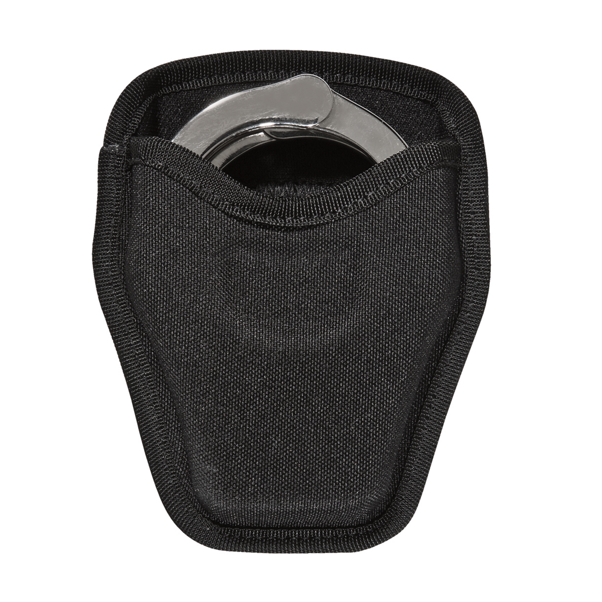 The Model 8034 PatrolTek Open Handcuff Case features a pull through style for easy access to the cuffs. Made of trilaminate construction with 600-denier woven finish. A dual web belt loop design conveniently accommodates both 2 in. (50 mm) and 2.25 in. (58 mm) belts widths.