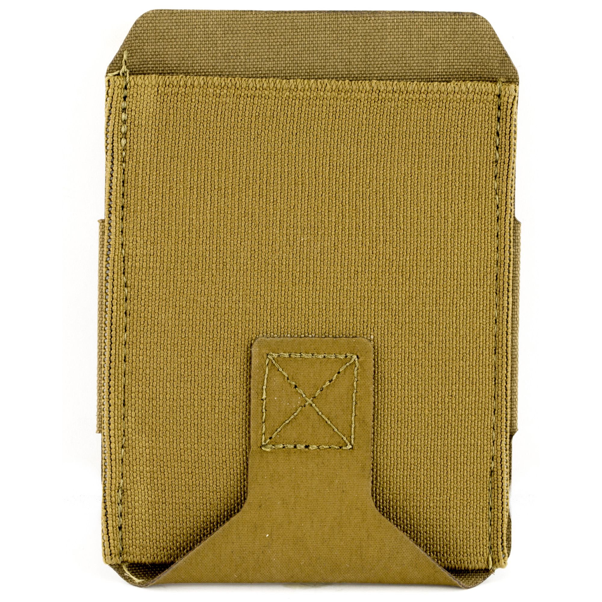 """The High Rise M4 Belt Pouch combines the combat-proven Ten-Speed(R) military-grade elastic with a belt attachment system anyone can use. The High Rise M4 Belt Pouch holds one M4 magazine or similar sized item higher up on the belt for maximum concealability. The High Rise M4 Belt Pouch attaches to the belt on regular everyday pants"""" rigger's belts"""" or duty belts with a hook and loop attachment system. The attachment system is split so the pouch can be attached on both sides of a belt loop to keep the pouch from rotating. The hook and loop attachment are able to be removed so the pouch can be mounted horizontally on the belt."""