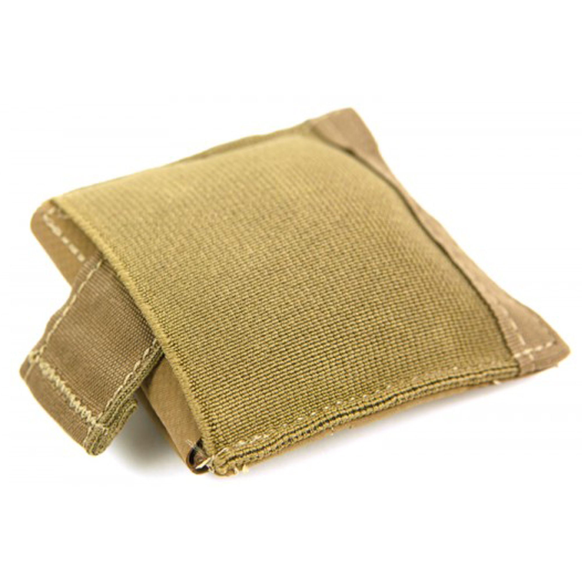"""The Ten-Speed Ultralight Dump Pouch redefines dump pouches. Extremely compact"""" only taking up a 2 x 2 MOLLE field; the bag portion stays folded under Ten-Speed(R) elastic when not in use. When needed"""" a simple pull on the bottom tab deploys a bag big enough to hold 10 M4 magazines. The stowed pouch design eliminates bulky bags flopping around posing as a snag hazard and is small enough to be mounted behind larger pouches or on duty belts. A cinch cord at the top of the bag can be closed with one hand to secure the contents of the Dump Pouch. The Ten-Speed Ultralight Dump Pouch functions great as a traditional magazine dump pouch"""" temporary supplemental pouch for breaching charges"""" provisions"""" SSE items"""" trash"""" spent casings"""" or extra water bottles. The rip stop nylon bag can be used for foraging for food or kindling or even work as an emergency water filtration component."""