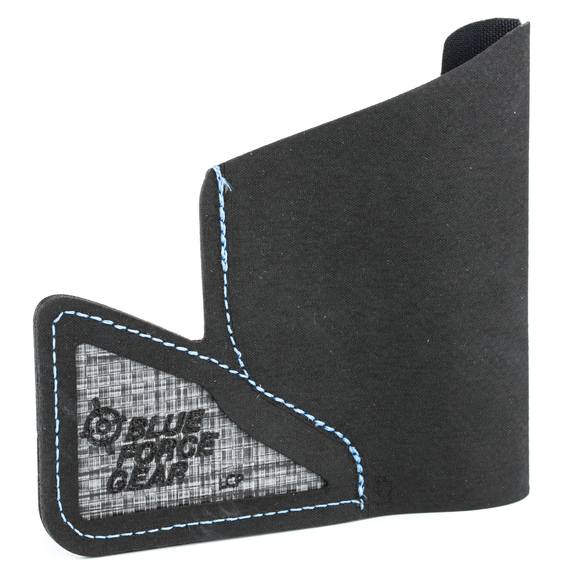 """Blue Force Gear brings the same revolutionary ULTRAcomp material developed for and proven on the battlefield to everyday carry in the form of the ULTRAcomp(R) Pocket Holster - the thinnest pocket holster available today. The ULTRAcomp(R) Pocket Holster removes unnecessary bulk by combining the ultra-thin ULTRAcomp material with model specific designs. ULTRAcomp(R) is a high-performance laminate that far exceeds the military standard air textured nylon in tear and abrasion resistance. Its hydrophobic features allow products to stay dry and light"""" whereas air textured nylon retains water and gets even heavier when wet."""