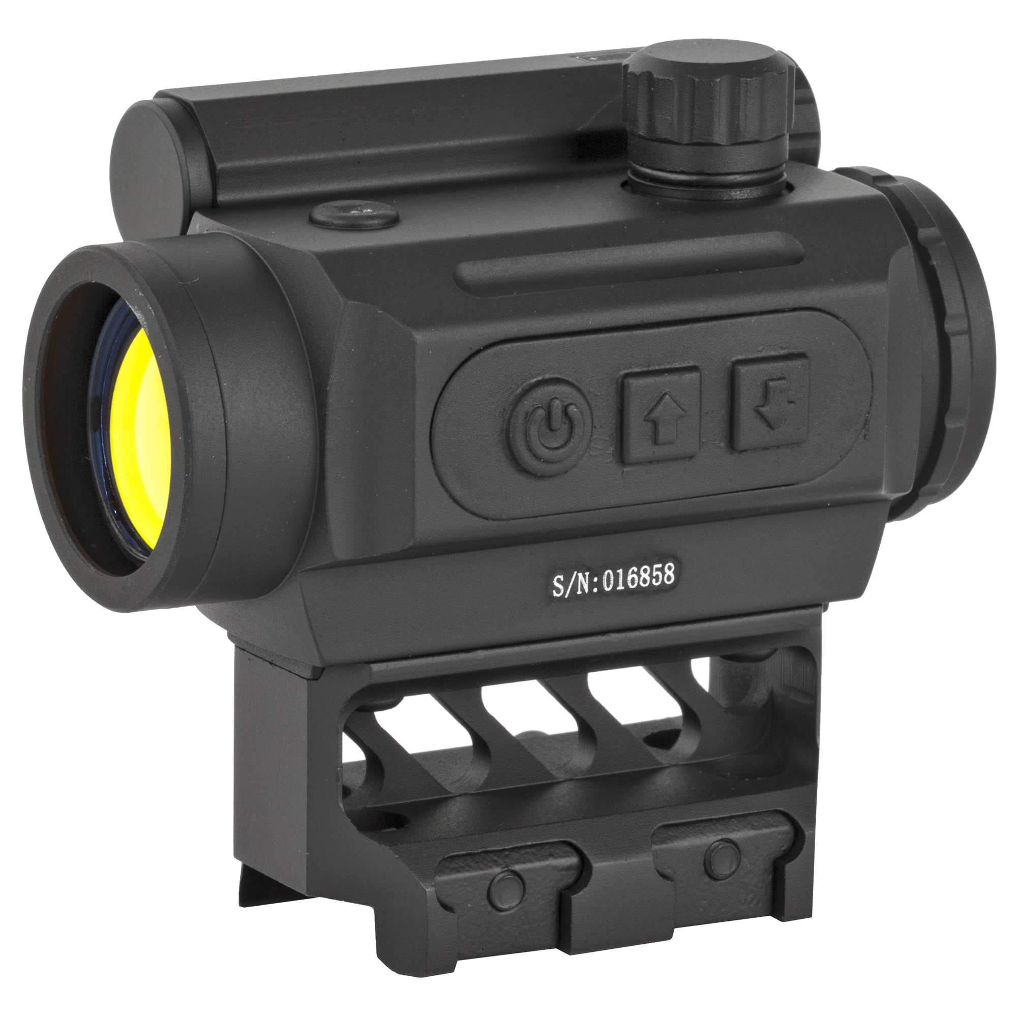 """The Micro Red Dot Optic is customized for a perfect Picatinny rail fit on your AR-15. The sight features an advanced ambient light filter with auto-dimming capabilities and an auto-shut off feature to preserve battery life. It is a one piece optic with an aluminum nitrogen-purged tube that allows for a lower 1/3 co-witness. With a 3 MOA red dot and an anti-reflective coating"""" you'll find the Micro Red Dot to be a competitive sight to those on the market. Allen key"""" rubber bikini cover"""" AAA battery and a 1-year replacement warranty are included. If you want a durable yet affordable micro red dot sight"""" look no further than Black Spider Optics."""