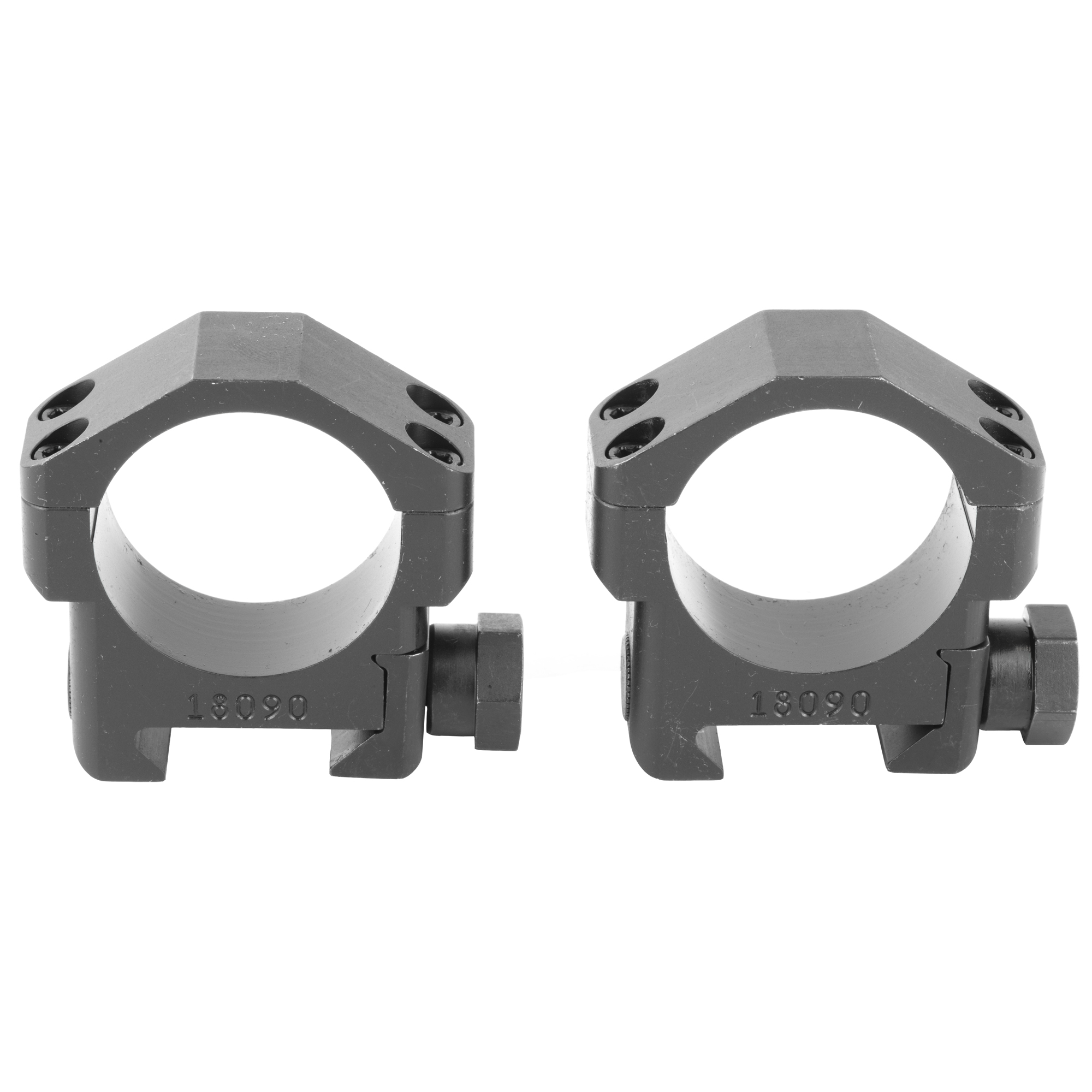 The Badger Ordnance 30mm Standard Scope Rings are optimized for use with current 30mm optics and accommodate precision rifles with mid and heavy barrel profiles. They are machined from Ordnance Grade Steel and Black Oxide finished.