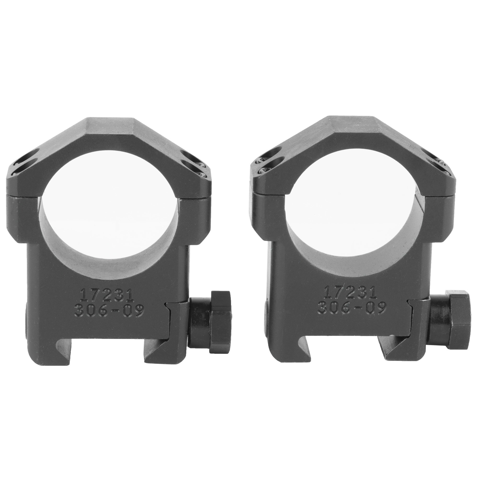 The Badger Ordnance 30mm High Scope Rings are optimized for use with current 30mm optics and accommodate precision rifles with mid and heavy barrel profiles. They are machined from Ordnance Grade Steel and Black Oxide finished.