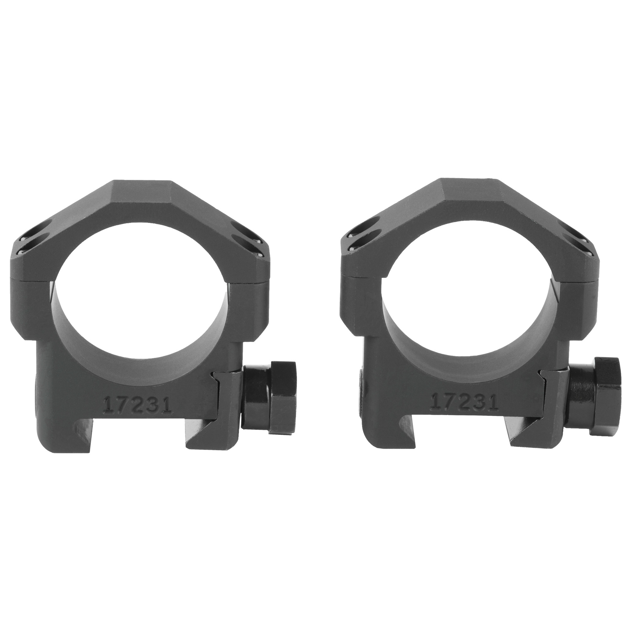 The Badger Ordnance 30mm Standard Scope Rings are optimized for use with current 30mm optics and accommodate precision rifles with mid-weight barrel profiles. They are machined from 6061 Alloy and Mil Spec Type III Hardcoat Anodized.