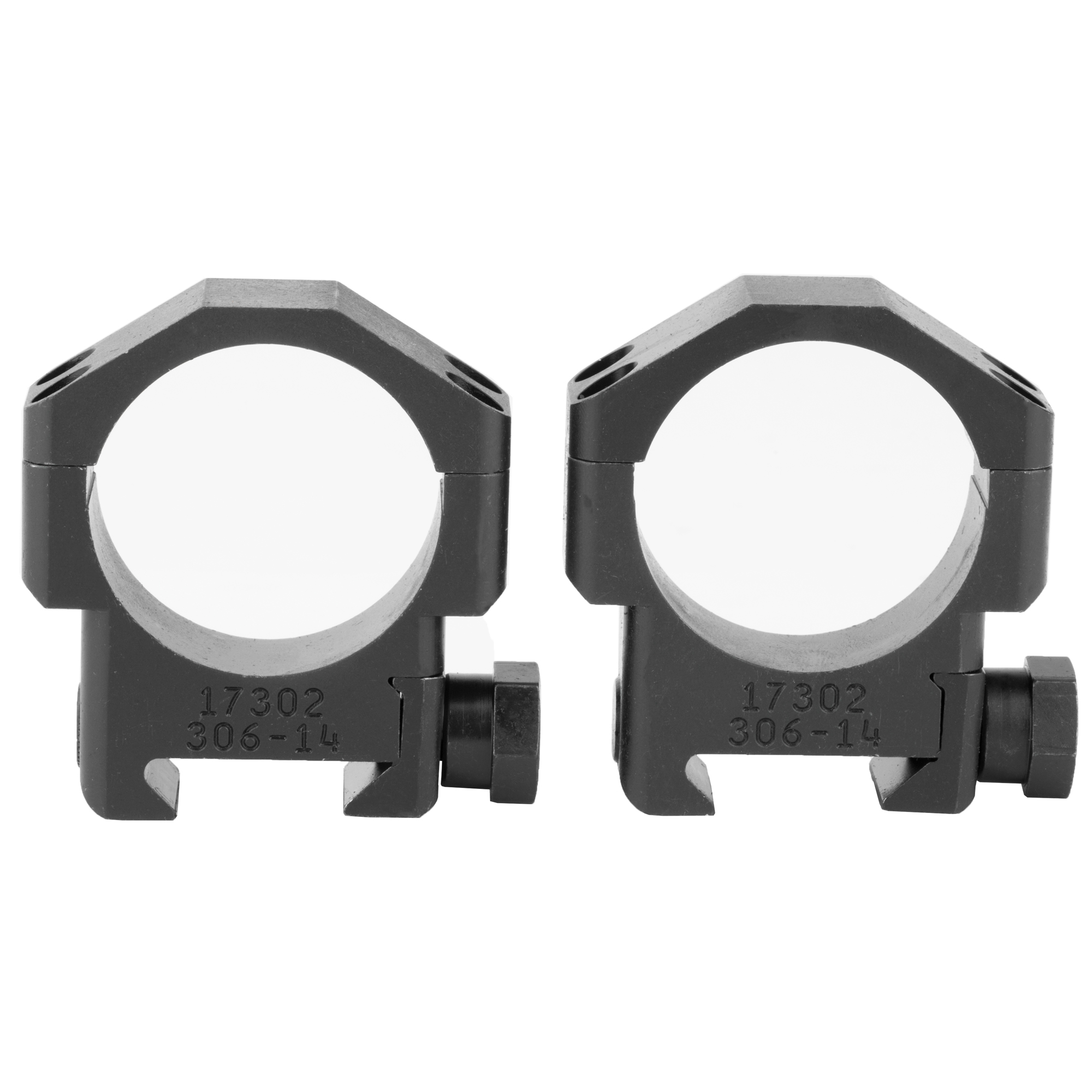 The Badger Ordnance 30mm High Scope Rings are optimized for use with current 30mm optics and accommodate precision rifles with mid to heavy barrel profiles. They are machined from 6061 Alloy and Mil Spec Type III Hardcoat Anodized.