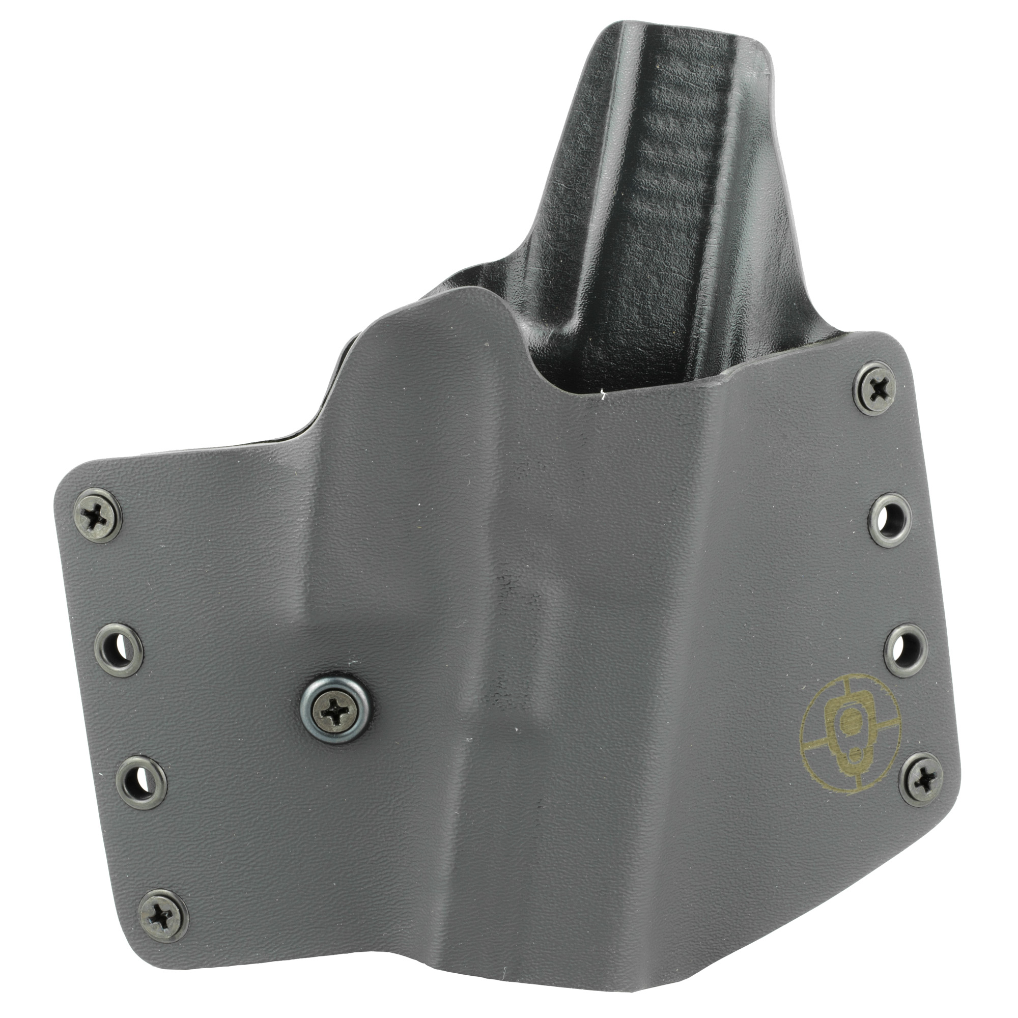 "The Standard OWB is the original holster from BlackPoint Tactical. The Standard OWB is ideal for users who desire a rugged and rigid carry platform. The Standard OWB holster is designed to have a total curve throughout the body of the holster"" allowing the holster to have a more natural fit to the curve of the body. Additionally"" the Standard OWB holster comes outfitted with a retention screw that allows the end user adjustability to the retention of the holster to their preference. The addition of metal hardware eliminates a common failure point (loops breaking) found on most OWB holsters. The Standard OWB is great for OWB concealment due to the side mounted belt attachment points. This reduces the overall thickness of the platform and allows the gun to ride as close to the body as possible."