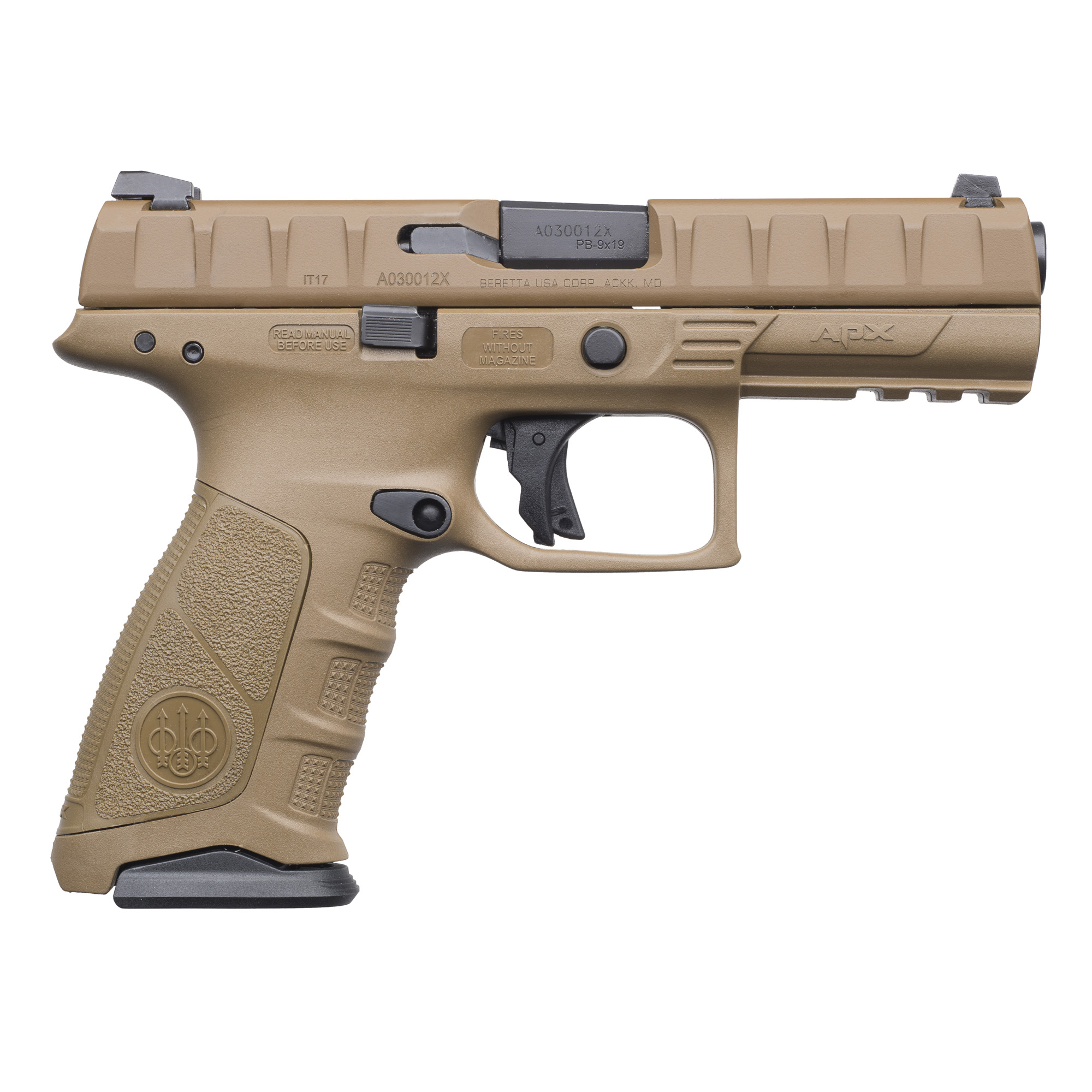 "Designed specifically for military and law enforcement operators"" the APX has been put through extensive testing and evaluation at the professional end user level. The result is a pistol that delivers superior performance in durability and reliability"" ergonomics"" trigger"" and modularity."