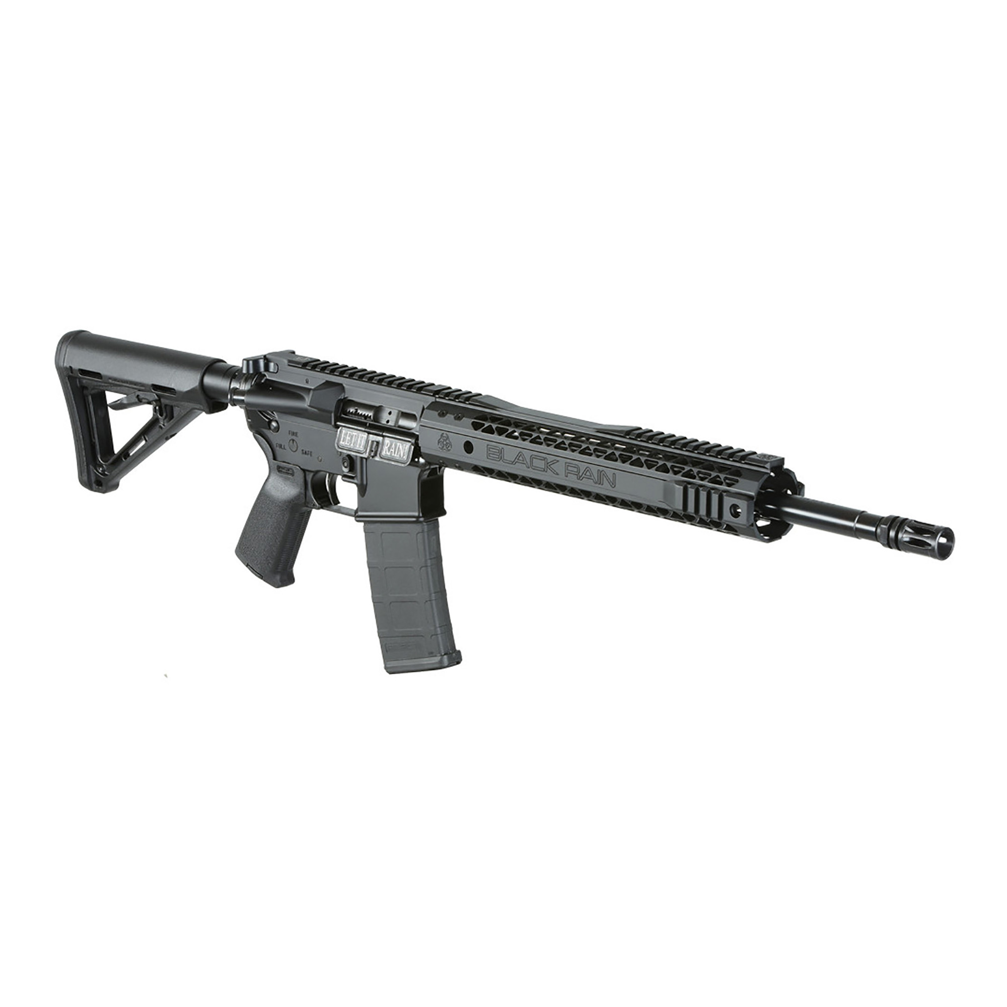 "A Hybrid of the Spec15 Carbine Combined with a Billet Aluminum Lower Receiver. Features a Magpul MOE grip and buttstock and a 16"" M4 Profile 4150 Chromoly Barrel."