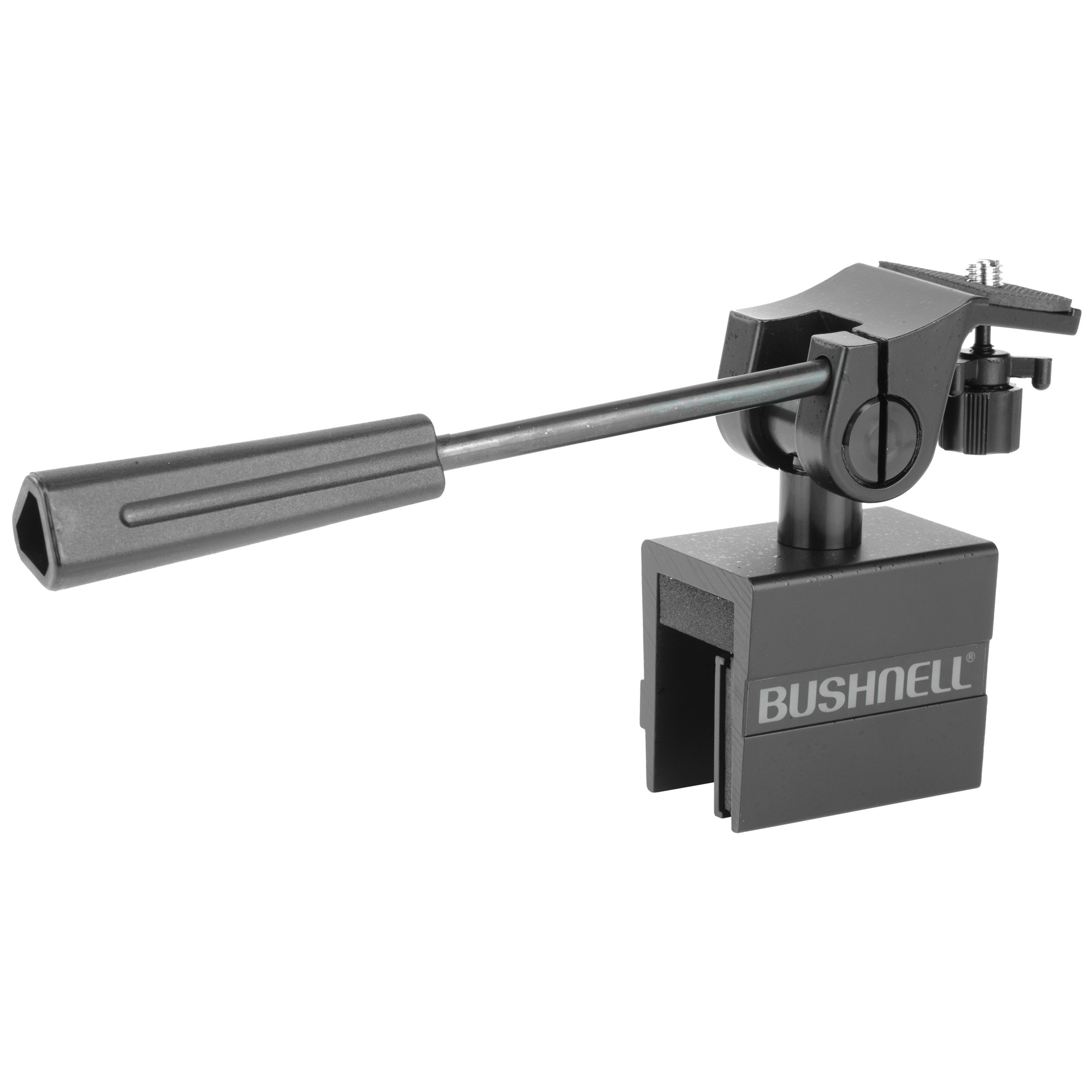 """The Bushnell Spotting Scope Car Window Mount is a great accessory for hunters and sportsmen who cover a lot of ground in a day. When you are on the run moving from place to place in your car and you want your spotting scope handy at all times"""" there is no substitute to a car window mount. This mount easily attaches and releases from any car window in your vehicle for use with any tripod adaptable device - spotting scope"""" camera"""" or binoculars."""