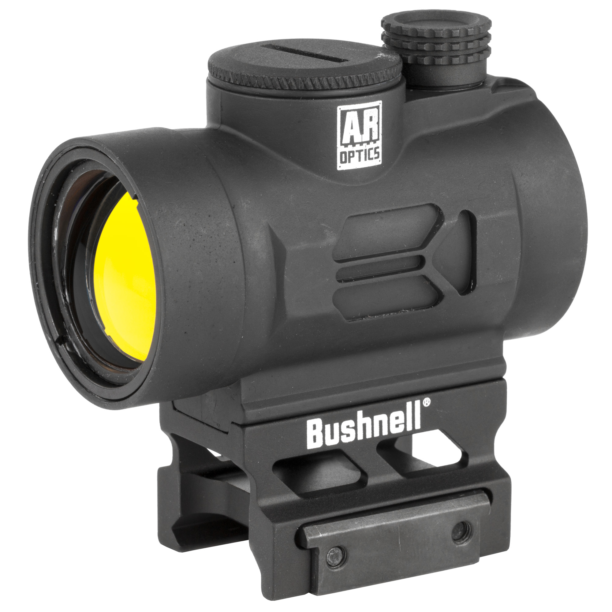 """The Bushnell AR Optics TRS-26 Red Dot goes beyond its historic predecessor with improvements in several key areas. The TRS-26 is powered by a long-lasting battery that sets the industry standard with more than 50""""000 hours of battery life. It delivers a brighter"""" crisper 3-MOA dot with push-button operation in a compact package. The Bushnell AR Optics TRS-26 is the standard for multipurpose red dots."""