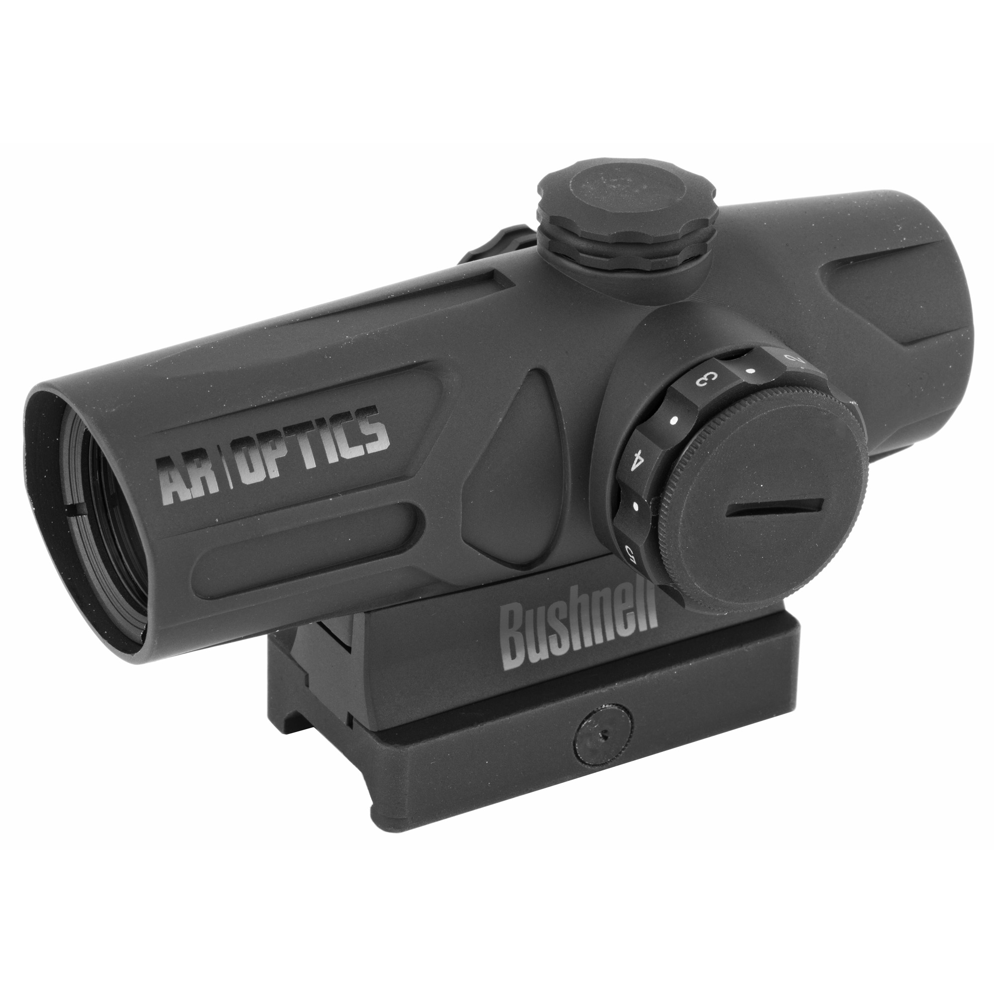 """The Bushnell AR Optics Enrage Red Dot is built to last"""" with battery life that exceeds 50""""000 hours. Multi-coated optics deliver bright"""" crisp images for easy target acquisition. The 2-MOA dot has eight brightness settings"""" with an off setting between each. The included hi-rise mount gives you everything you need"""" right out of the box. The Bushnell AR Optics Enrage is ready for action."""
