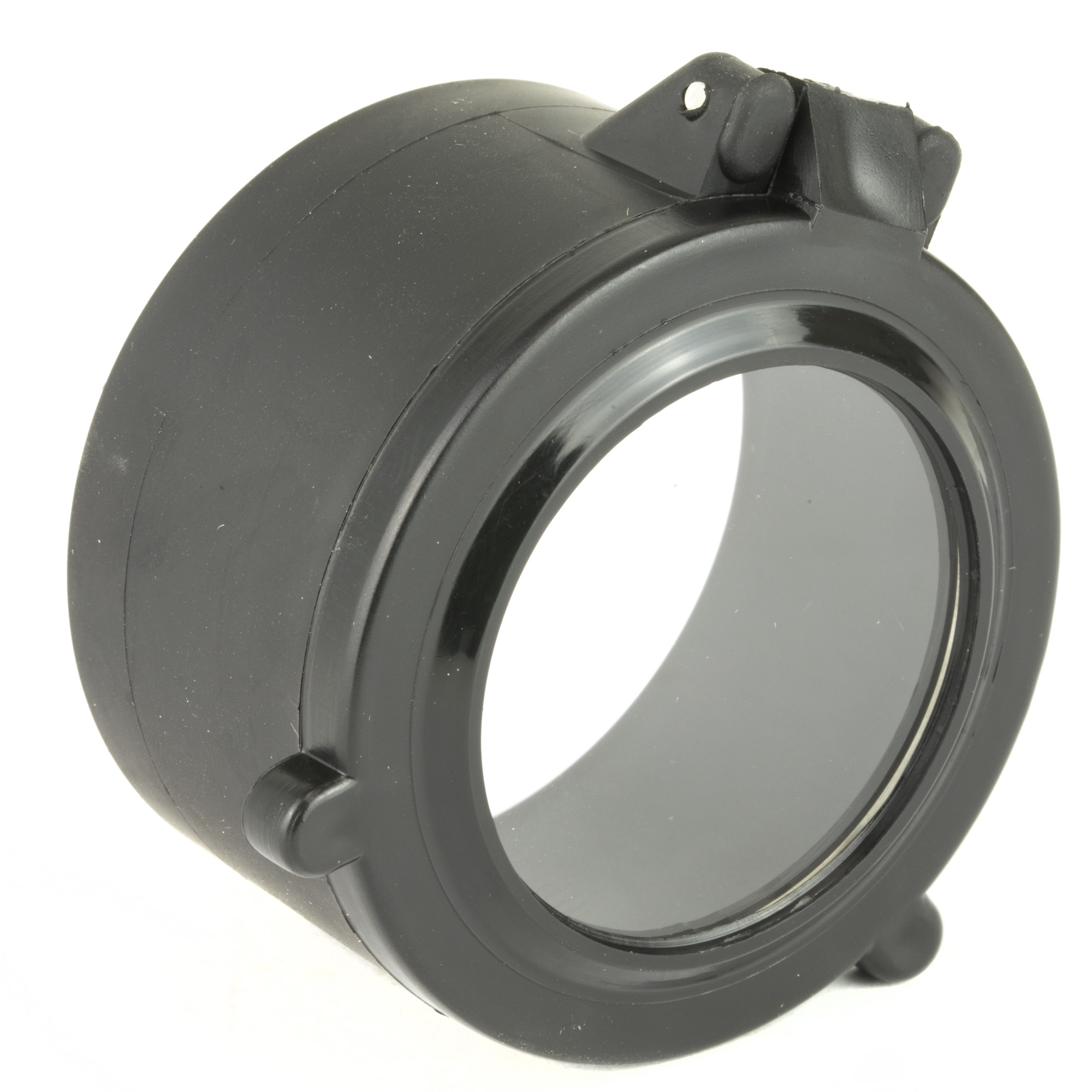 Butler Creek's famous Flip-Open lens cover design with clear windows for fast target acquisition at close to medium ranges.