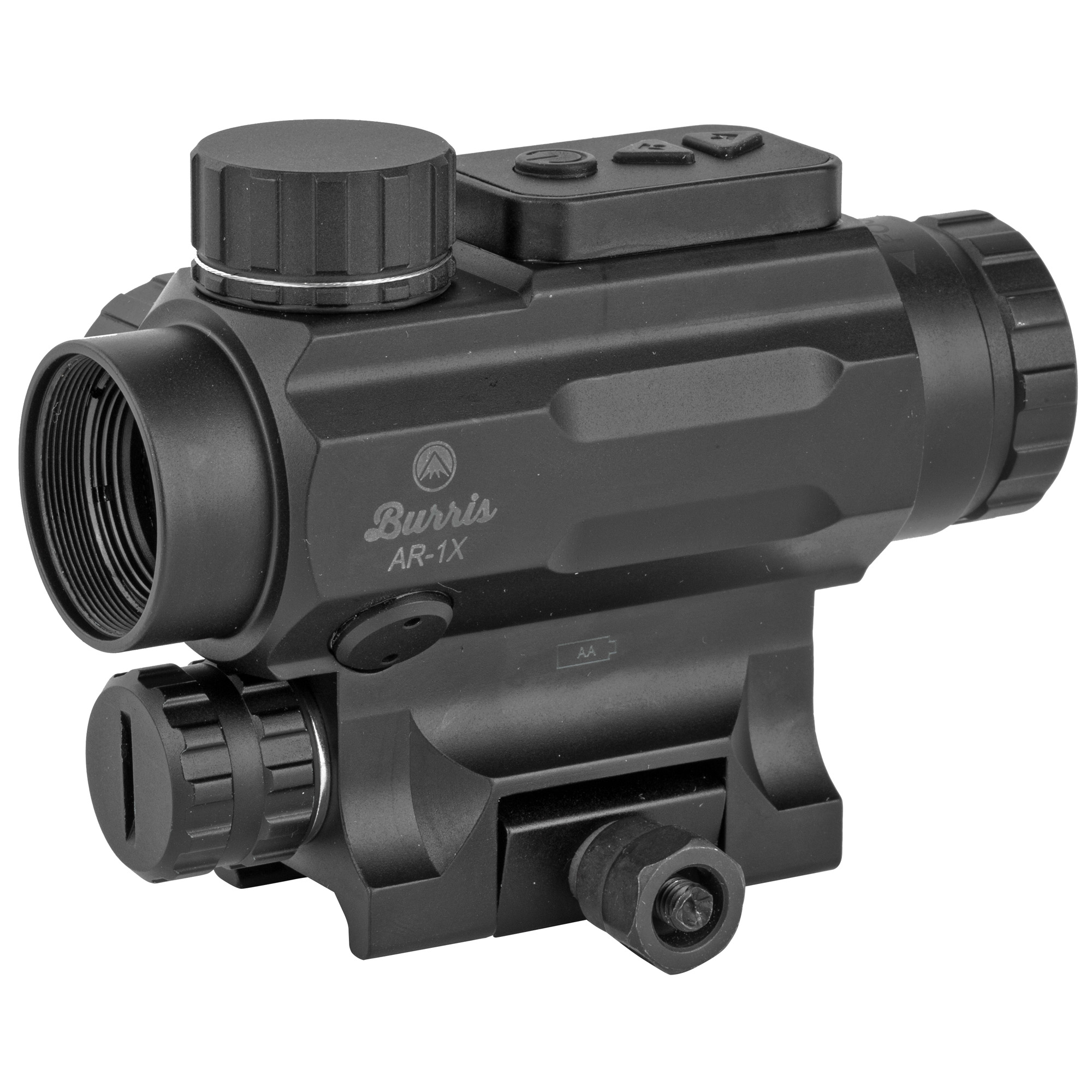 "Don't miss a thing with both-eyes-open shooting. Push-button activation lets you choose between green"" red"" or black reticle settings. One lithium battery yields up to 5""000+ hours of service. The black reticle is etched onto the prism"" so you can use the optic even without battery power. Easy-to-see reticle hash marks offer trajectory compensation to 600 yards. Lens coatings are maximized for glare resistance and low-light operation"" and the sight is night-vision compatible."