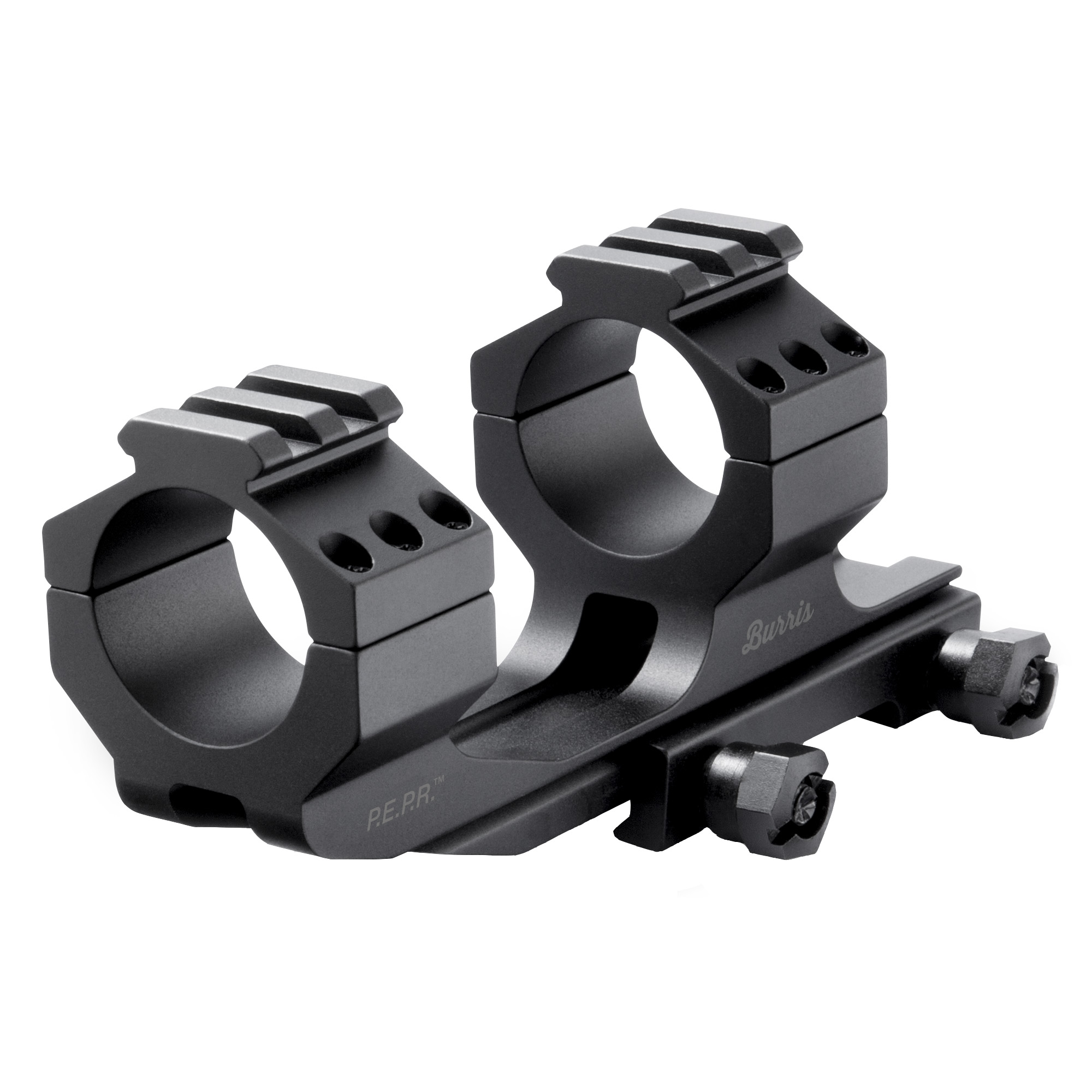 The AR- P.E.P.R. mount is a full ring and base mounting solution that allows for up to 2 inches of forward scope positioning and provides optimum eye relief and full field of view.