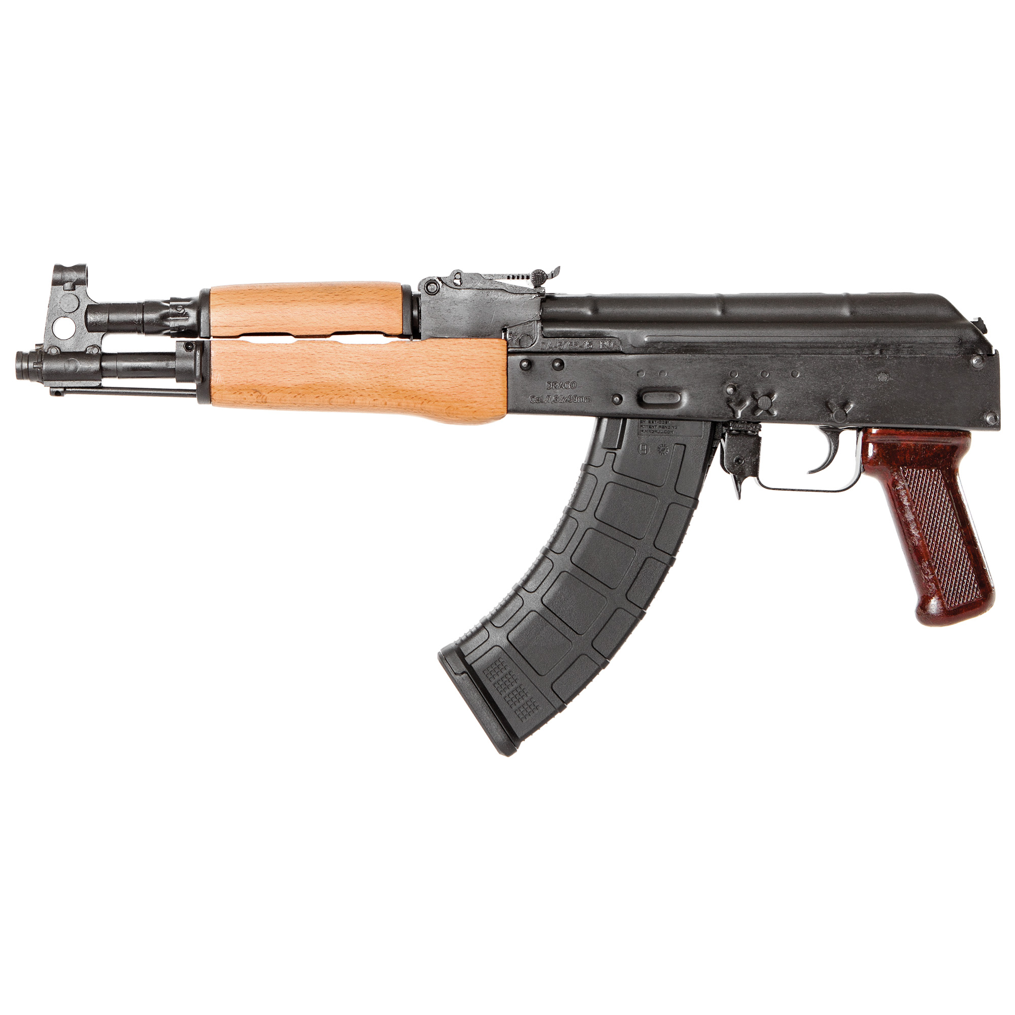 """The Century Arms Draco features a stamped receiver"""" 14x1 left hand threaded barrel and it accepts all standard AK magazines."""