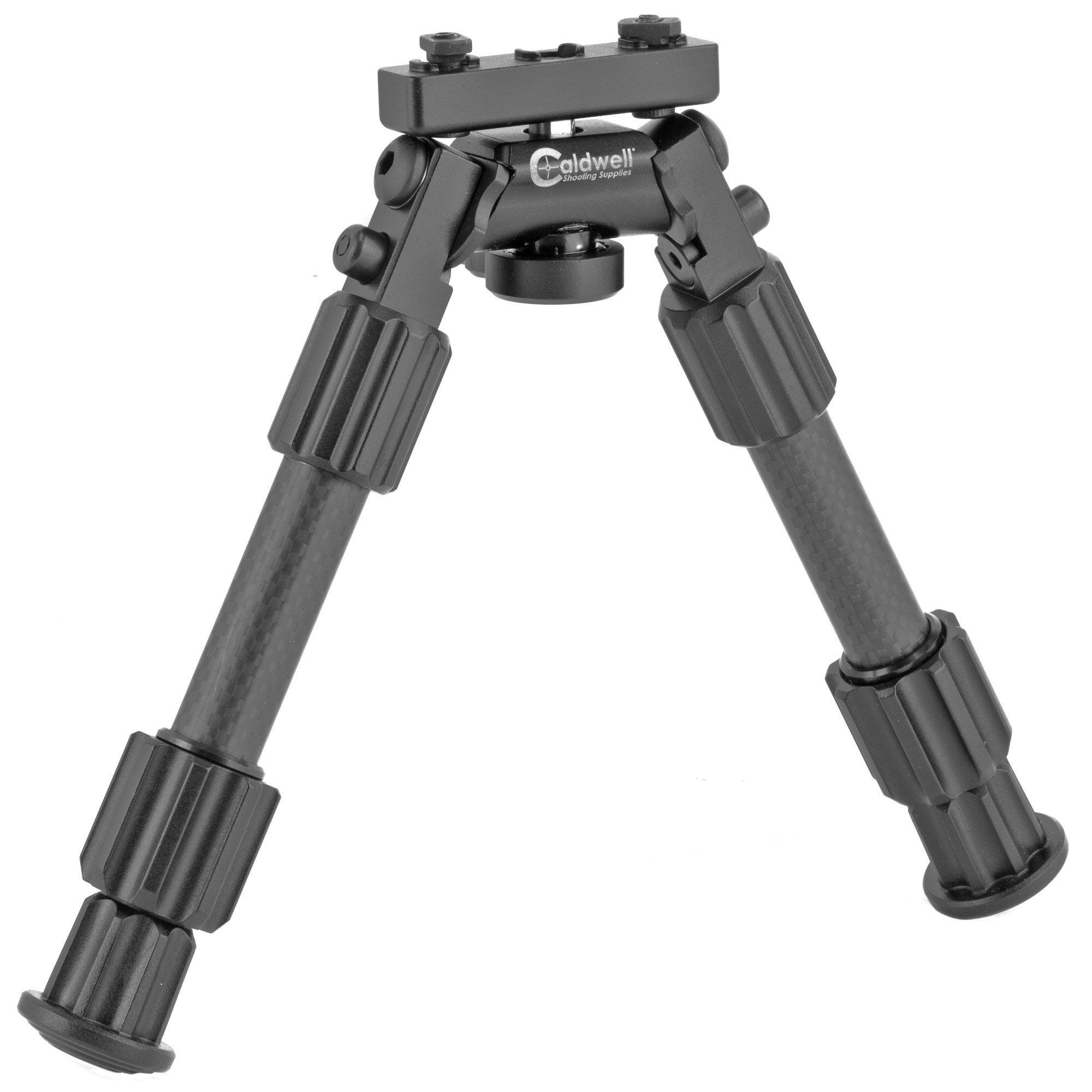 """Caldwell's ACCUMAX 6""""-9"""" Universal Bipod lets you have a bipod on your AR without all the extra weight of adaptors. Designed to mount directly to either M-Lok or KeyMod handguard with adaptors for both styles included. Get a top quality Caldwell bipod on your AR without any extra weight to slow you down."""