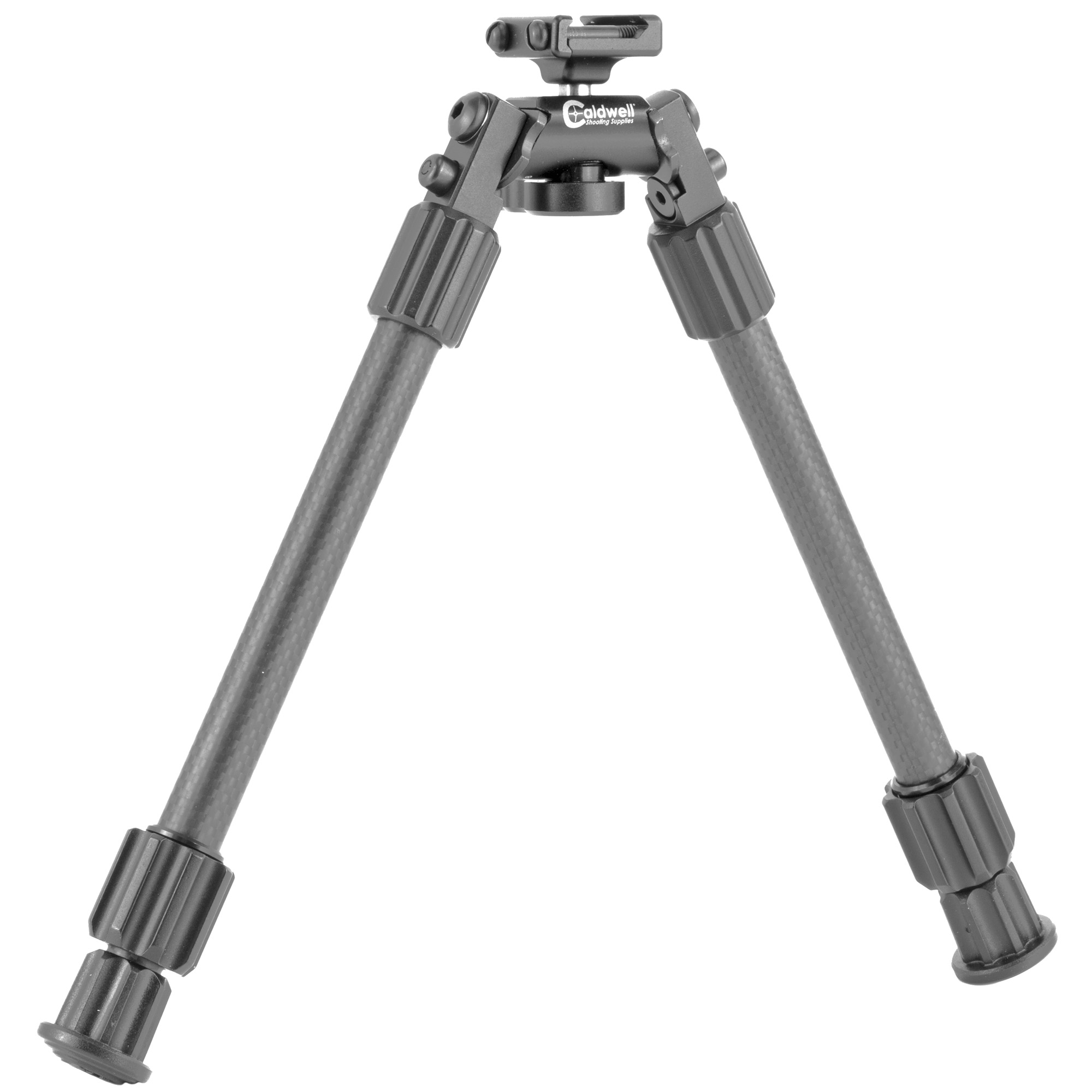 """Caldwell's Premium Picatinny Rail 9""""-13"""" Bipod let you have a bipod on your AR without all the extra weight of adaptors and to achieve maximum accuracy. Designed with the shooter in mind"""" this tactical rifle bipod features quick-deployment carbon fiber legs and soft rubber feet for enhanced stability. Dial-in with ease using the twist-lock technology"""" 180 degrees of leg angle adjustment and the swivel tension lever."""