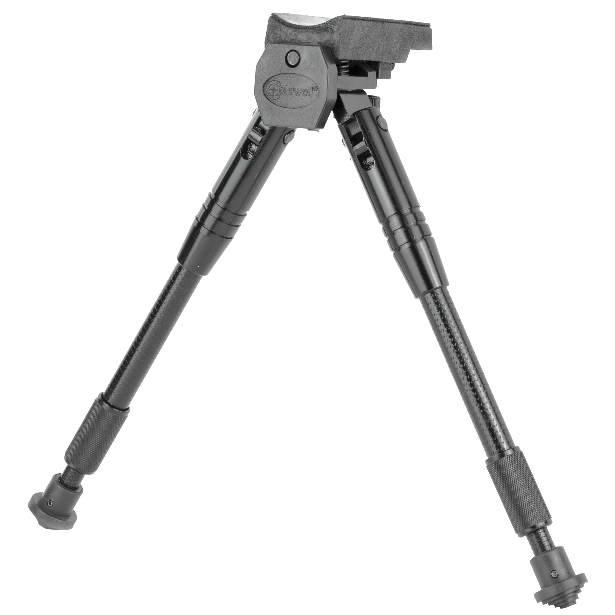 """Caldwell's 8""""-12"""" Bipod Prone Universal Sling Swivel Mount is designed with all of the features necessary for steady"""" accurate shooting"""" regardless of the range or terrain. Now you have extreme motion ranging capability with our exclusive wide-pan and stock canting features that come standard with our bipod design."""