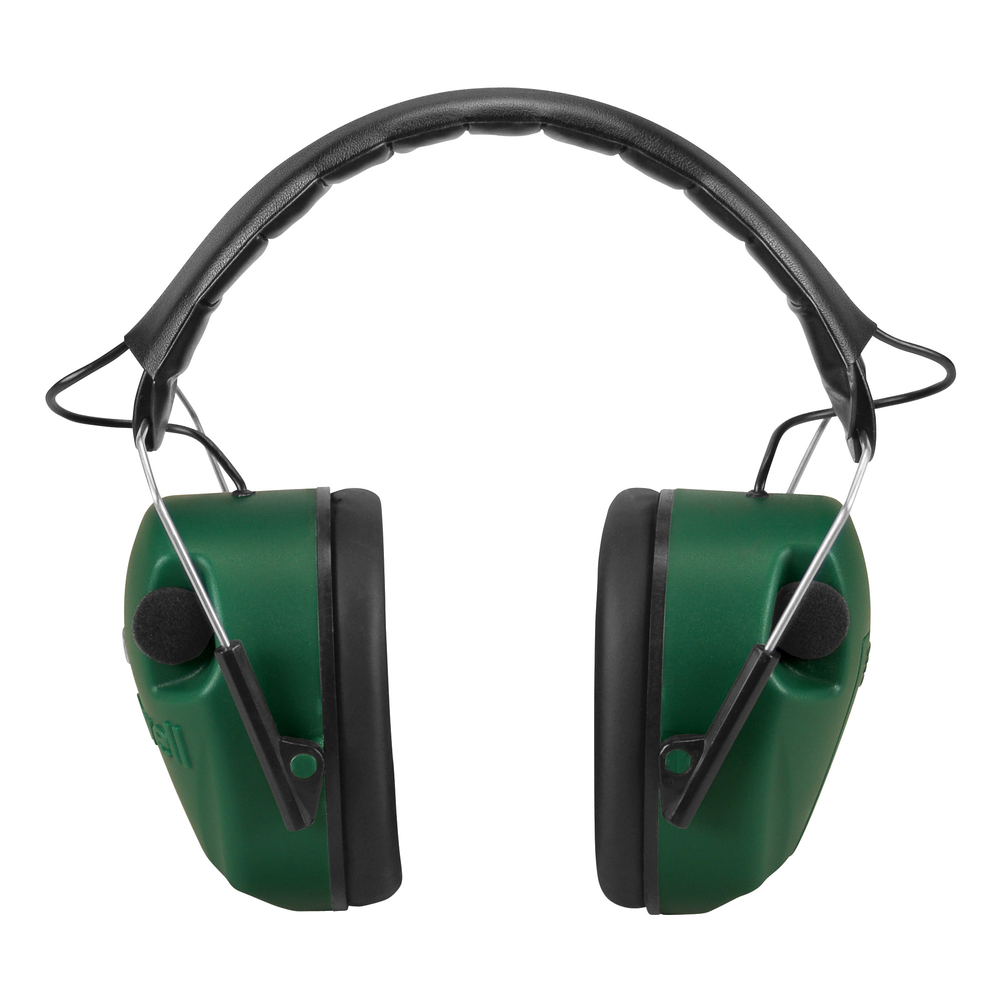 """The Caldwell E-Max hearing protection combines great circuitry with a standard ear cup for better protection. The two microphones in the E-Max amplify sounds below 85 decibels"""" which amplifies normal communication"""" range commands"""" and environmental sounds. Above 85 decibels"""" the microphones shut off to protect the shooter's hearing. Ear cup width is 1.75 inches and two AAA batteries are required but not included. Enabled with one stereo microphone in each cup"""" the user can localize sound from all directions."""
