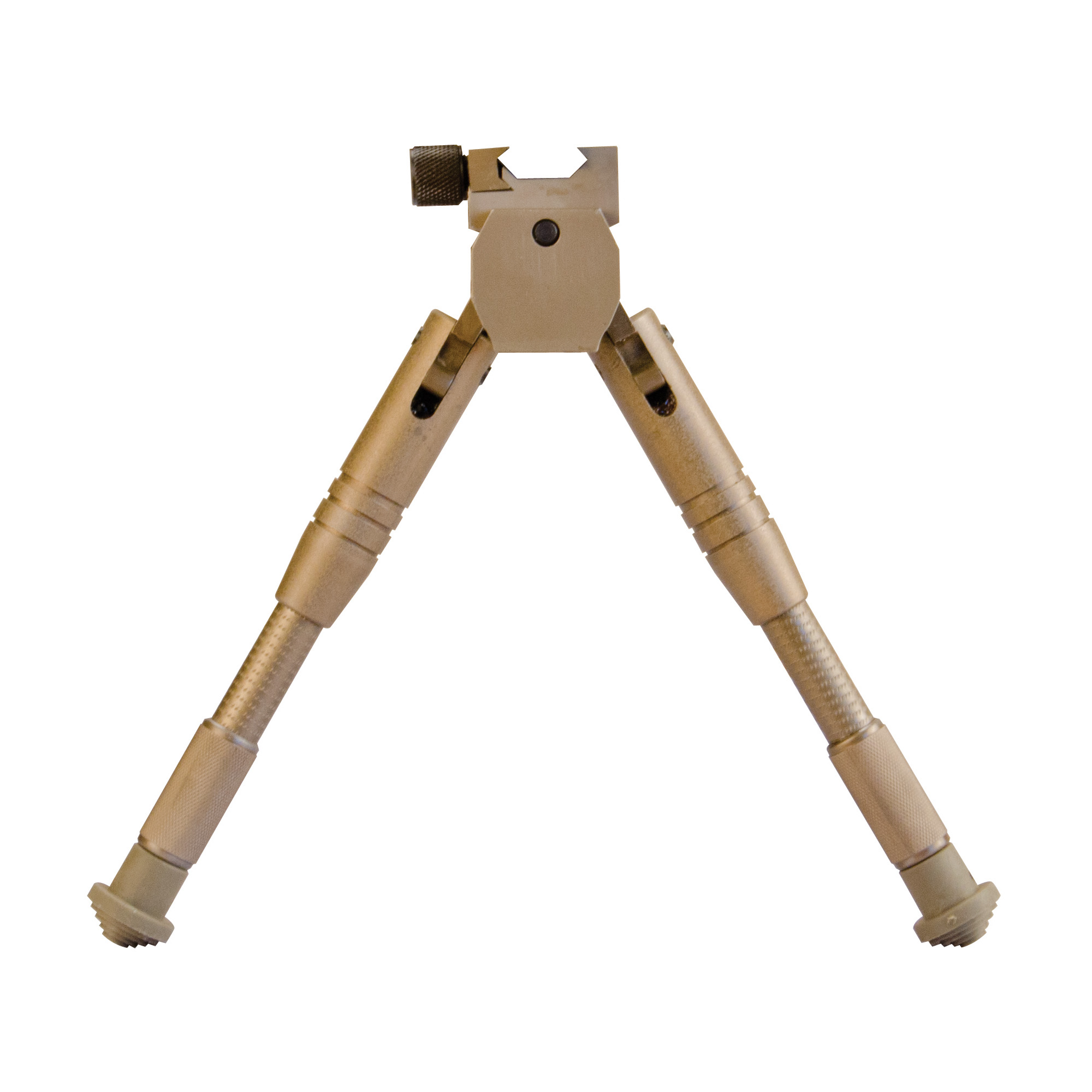 """Caldwell's AR Bipod Prone 7.5""""-10"""" combines a quick attach system for securing to any picatinny rail. Its built in systems for both pivot and cant movements give the shooter maximum range of alignment without having to reposition the bipod. The unique internal spring system is both low profile and quiet. The unique leg adjustment mechanism delivers fast and secure"""" no-wobble height positioning. Rubber feet ensure good grip on all surfaces. Lightweight and durable anodized aluminum construction."""