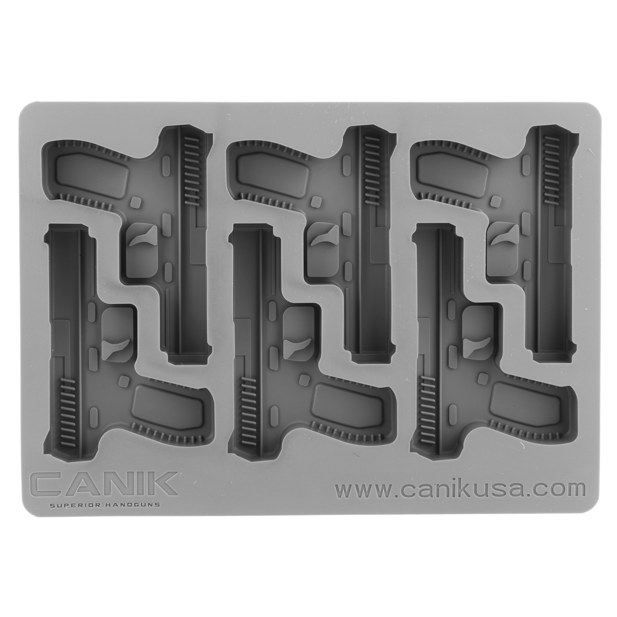 This custom molded ice cube tray from Century Arms allows you to show off your support for the TP-9 pistol. The ice cube tray is constructed from pure food grade silicone rubber and is designed to last for years.