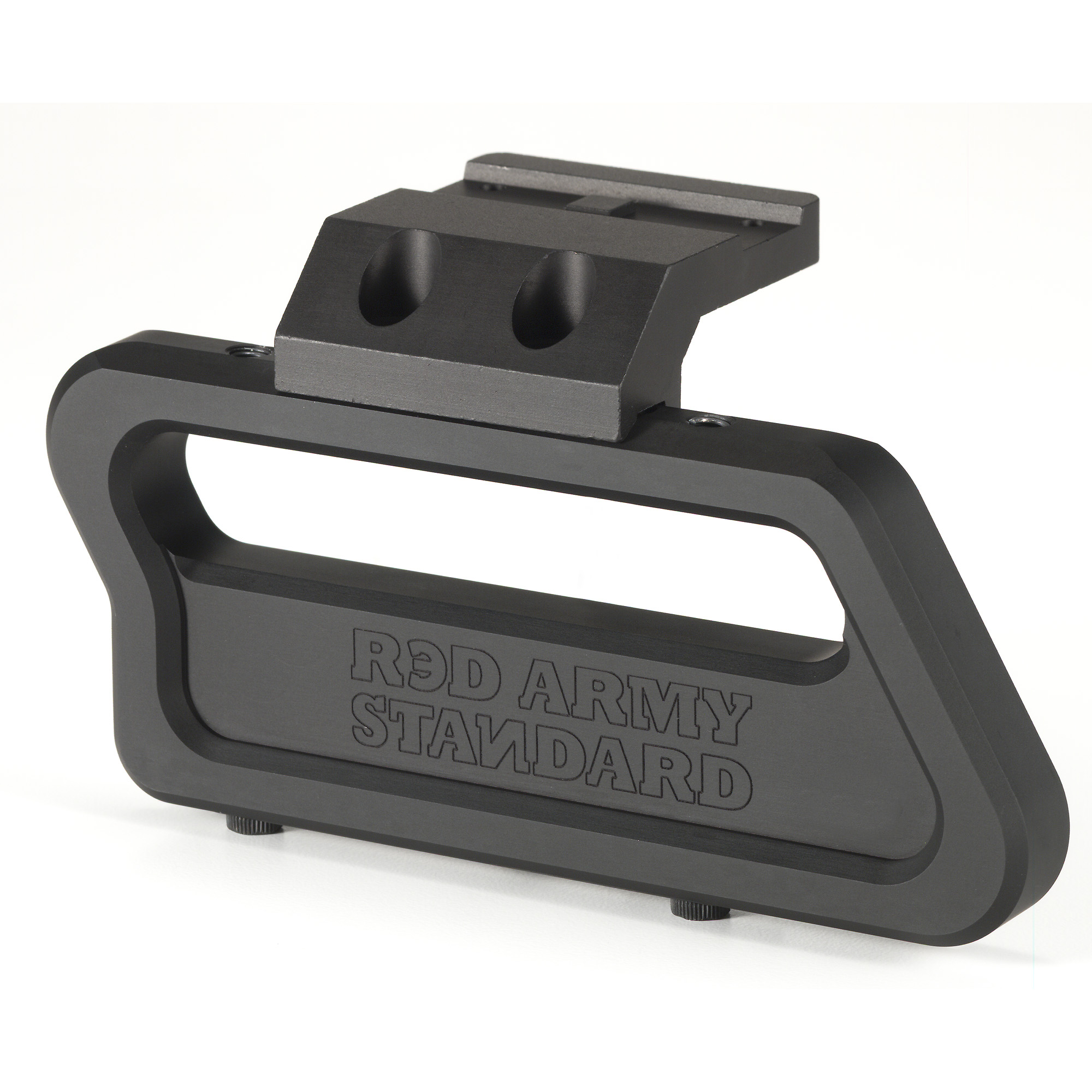 The Red Army Standard AK Micro Dot Side Mount combines superior overall strength with four times clamping improvement over traditional side scope rail mounts. The revolutionary design makes it the first side mount that offers a return to zero capability. The rugged and reliable mount is compatible with most standard T1/H1 style optics and is 100% made in the U.S.A.