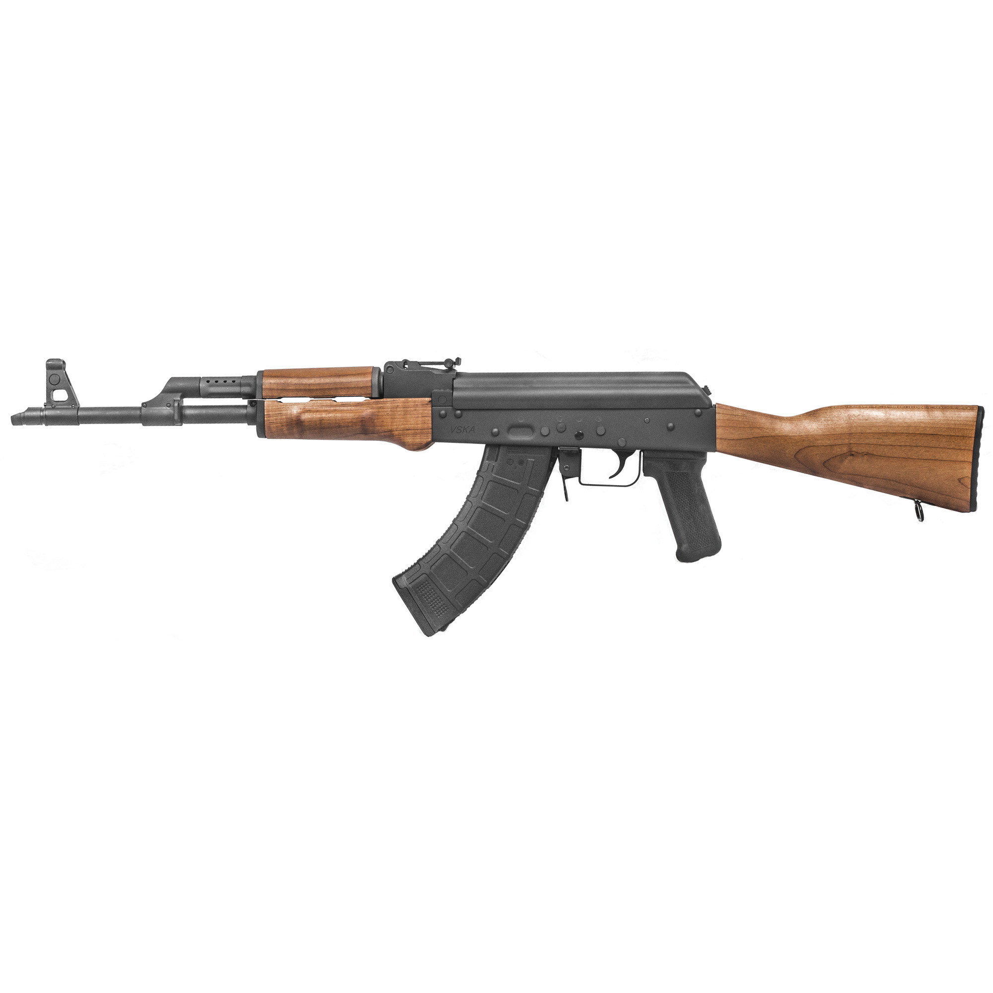 """For 2019 Century Arms introduces its newest heavy duty AK rifle"""" the VSKA (vis-kuh). Re-engineered with critical components using machined S7 tool steel"""" a material so highly regarded for it's ability to withstand heavy duty action that it's used in excavator teeth and jackhammer tips!"""