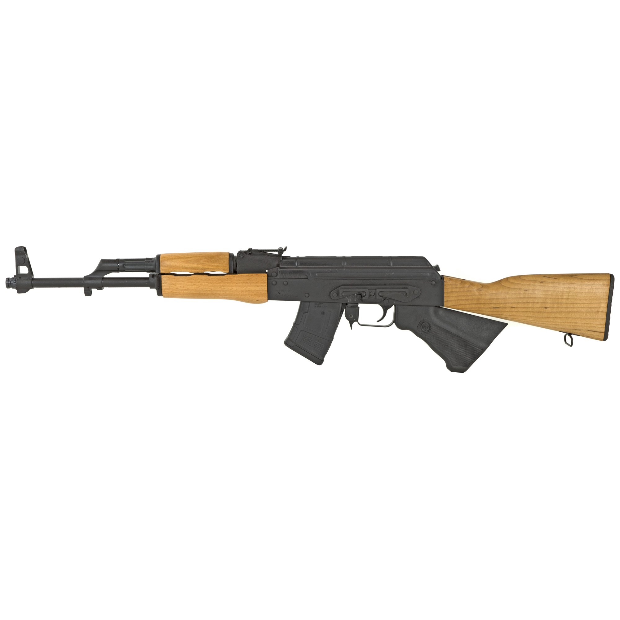 """This is the California-compliant version of the Romanian WASR rifle. It features a chrome-lined hammer forged barrel"""" stamped receiver"""" side mount scope rail and RAK-1 Enhanced Trigger Group."""