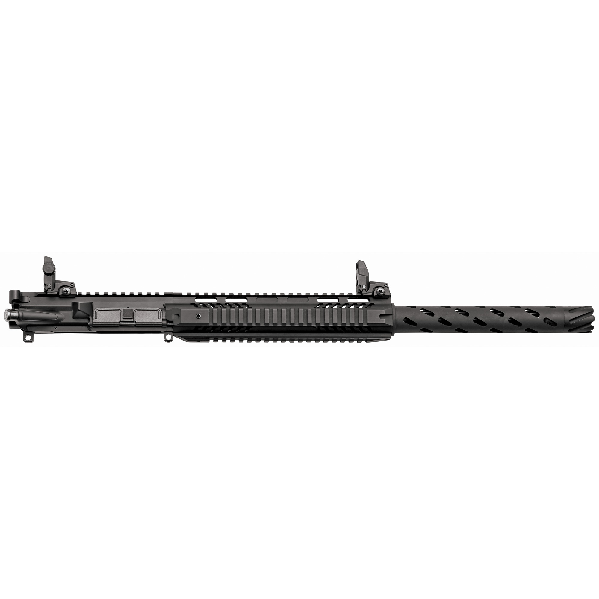 "The Charles Daly AR .410 Upper allows any AR-15 to be converted to a .410 shotgun. The CD .410 Upper features a 19in barrel"" chambered in 2.5in .410 bore. It has front and rear flip up sights"" picatinny quad rail forend and comes with a 5 round magazine. IMPORTANT: This upper works with mil-spec lower only. MUST USE CARBINE BUFFER TUBE. Upper includes buffer that must be used with carbine buffer spring for proper function. Failure to shoot without carbine buffer tube and provided buffer can cause damage to upper and lower. Overall cartridge length must be 2.29inches or less for proper function."