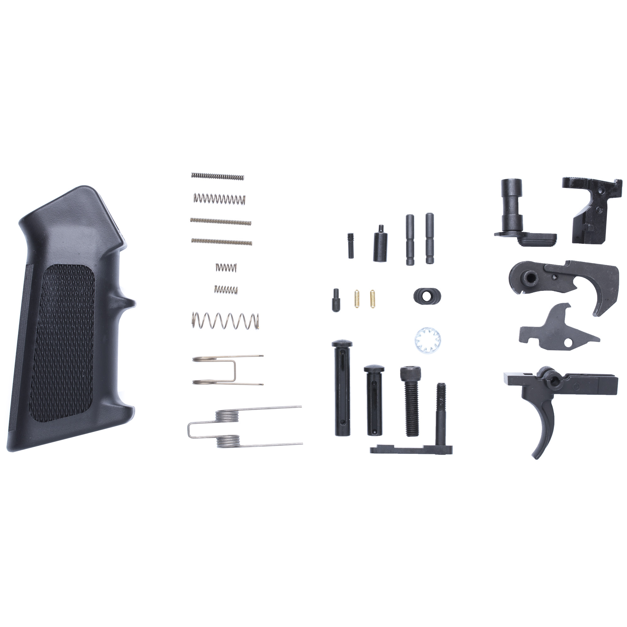 All the parts you need to get started on your next Mk3 build. Combine this kit with a buttstock kit to complete your lower group. Compatible with CMMG Mk3 Lowers and most LR308 type lowers.
