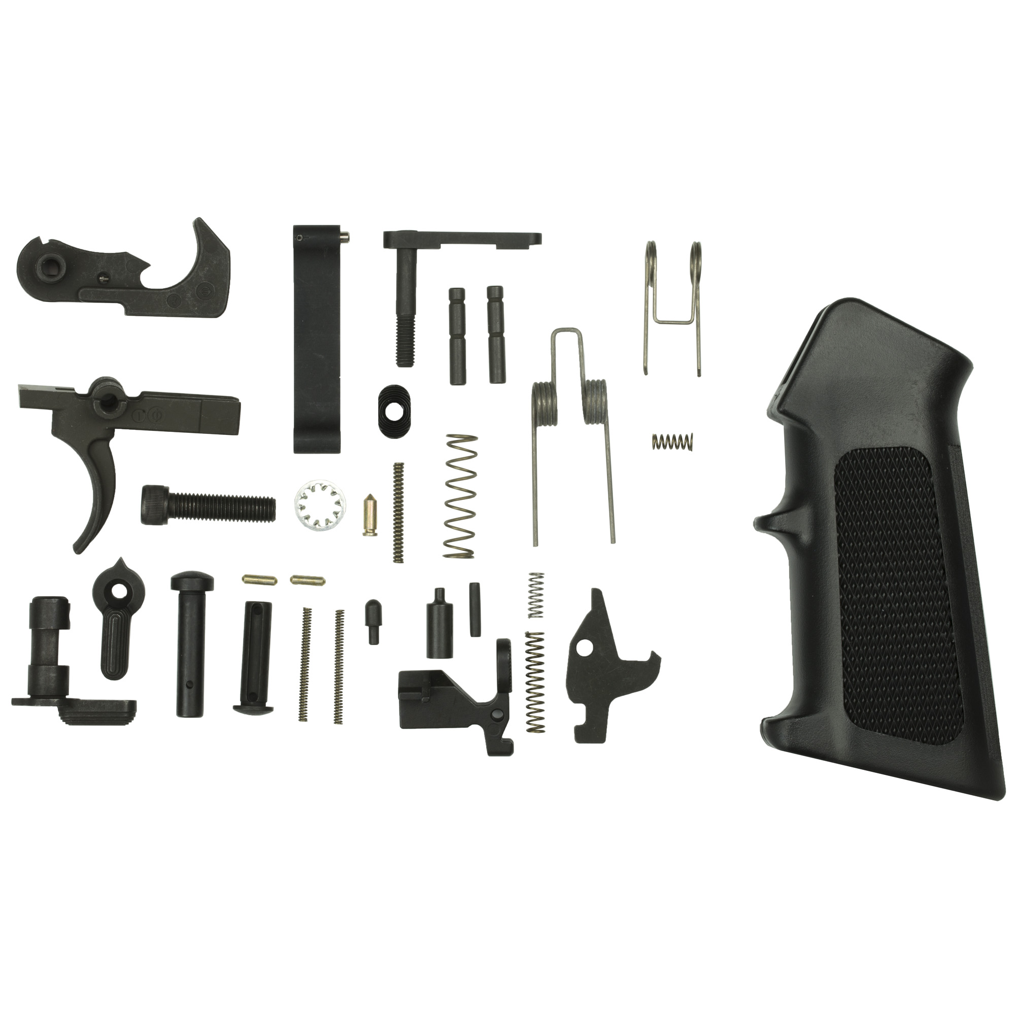All the parts you need to get started on your next AR15 build. Combine this kit with a buttstock kit to complete your lower group. Includes a CMMG Ambi Selector.