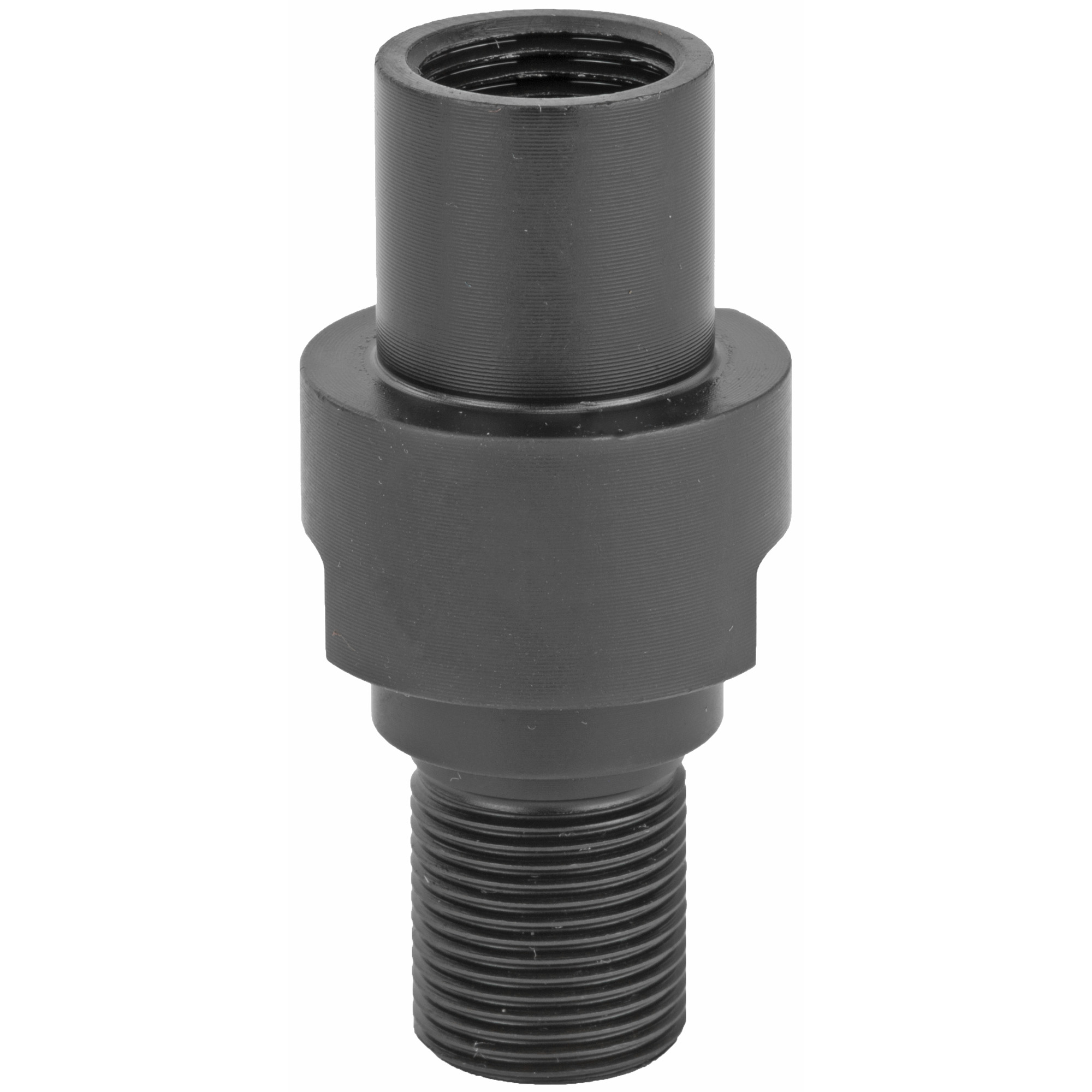 """Use this with a short barrel on your PS90 SBR build to attach your favorite muzzle device. Adapts the standard M12 x 1.0 LH threads of the PS90 to 1/2""""-28 which is compatible with most 5.56/.223 muzzle devices."""