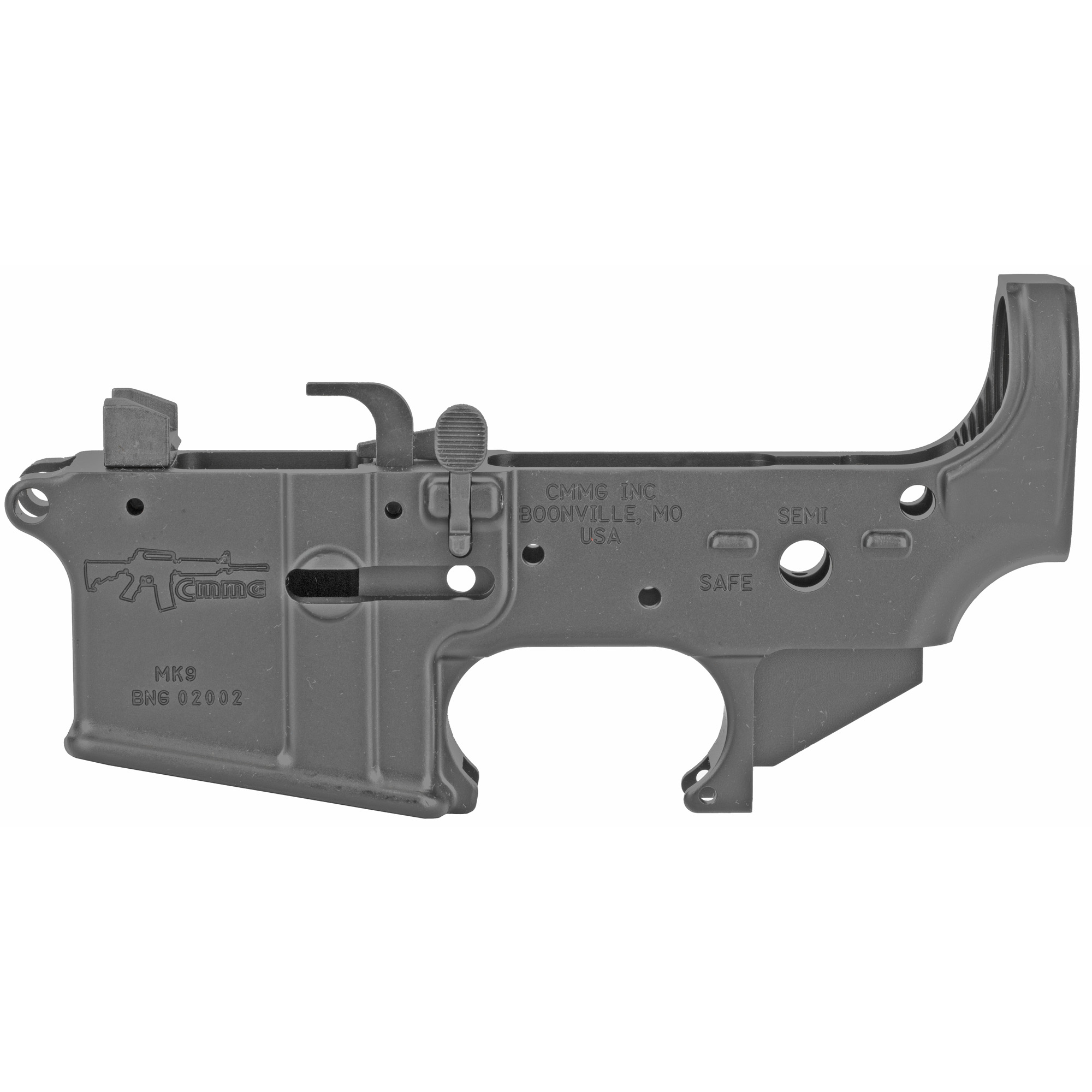"""Combine this dedicated 9mm lower with a lower parts kit and buttstock kit to build your favorite lower group. Comes with 9mm bolt catch"""" feed ramp"""" and ejector installed."""