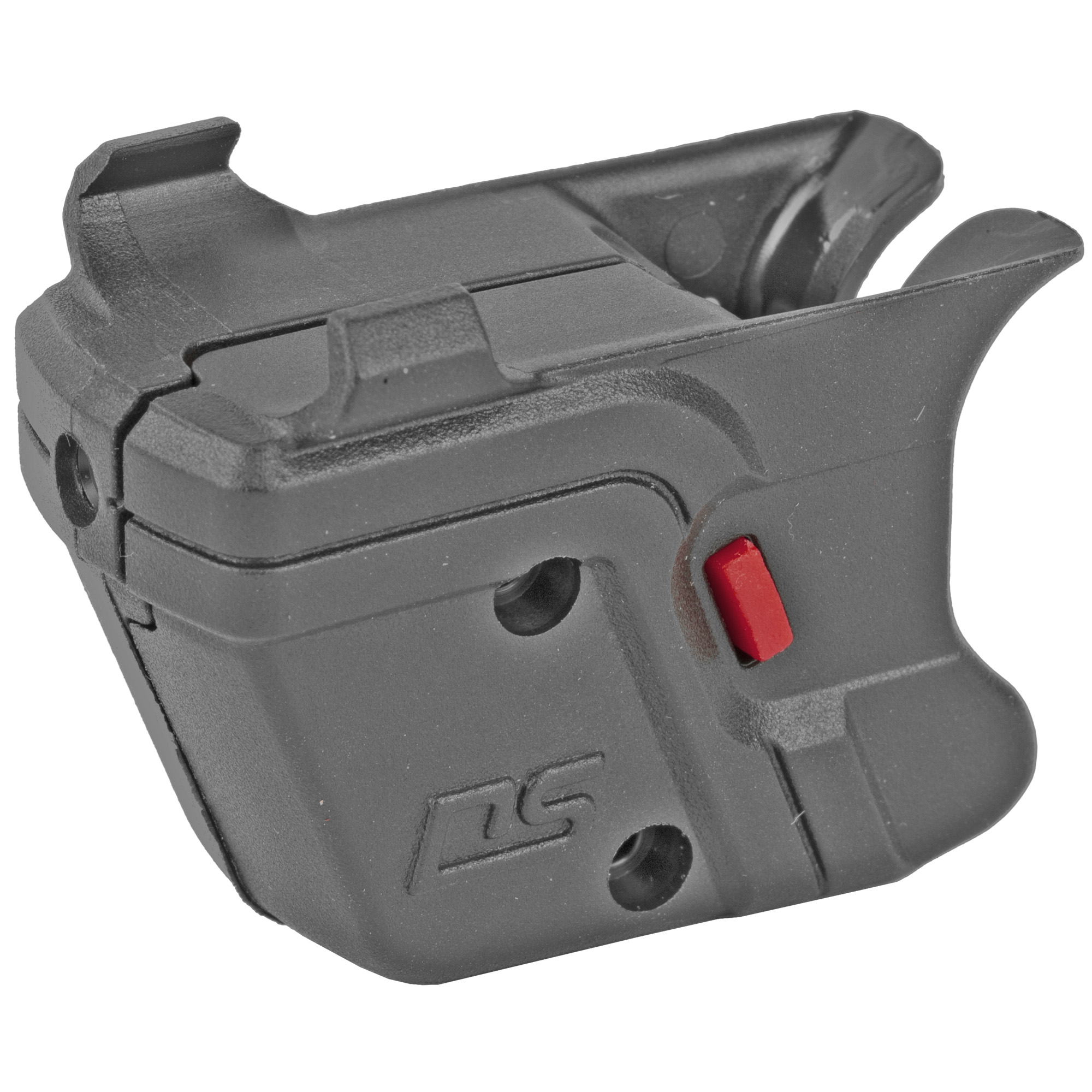 """The DS-121 Defender Series(TM) Accu-Guard(TM) Laser Sight by Crimson Trace fits GLOCK Full-Size and Compact pistols. The Defender Series sets a new standard in laser sight for GLOCK pistols by providing cutting edge design"""" superior technology"""" and an affordable price tag. The DS-121 features Beam Lock(TM) Adjustments so that the user can easily adjust laser sighting for both windage and elevation"""" and the unit is pre-sighted at the factory at 50 ft. The Dual Side N-Gage(TM) Activation Buttons provide a large"""" easy-to-find"""" bright red activation button"""" which emits a powerful (5mW peak"""" 620-670nm"""" Class 3R) red aiming laser."""