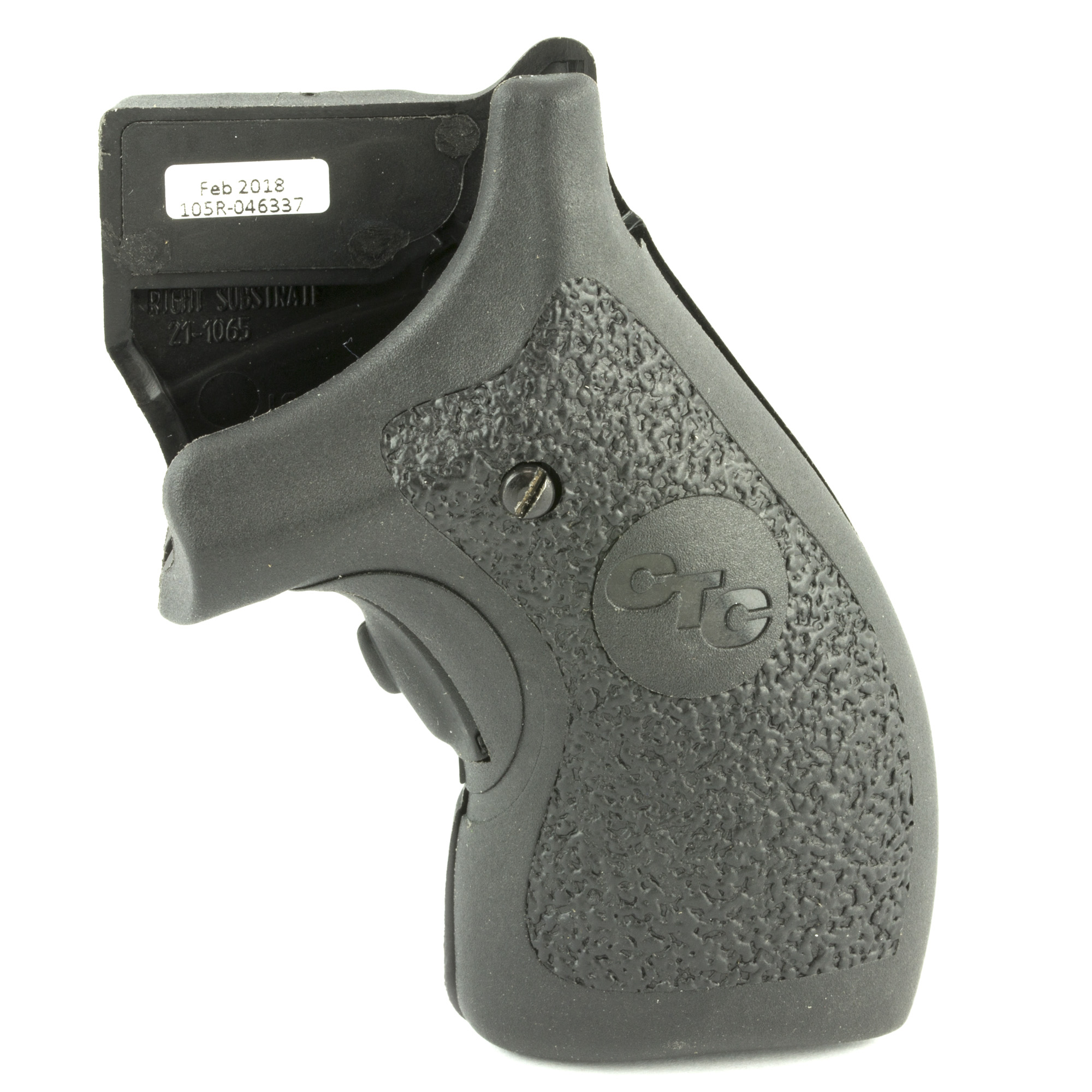 """LG-105 laser sights for the wildly popular Smith & Wesson J-Frame revolver line feature a hard polymer surface that is rugged and well suited for personal defense. The smooth feel of the polymer provides for a prompt"""" snag-free draw. LG-105 Lasergrips(R) includes the durability"""" sighting adjustments"""" and the defensive advantage that Crimson Trace(R) is famous for."""