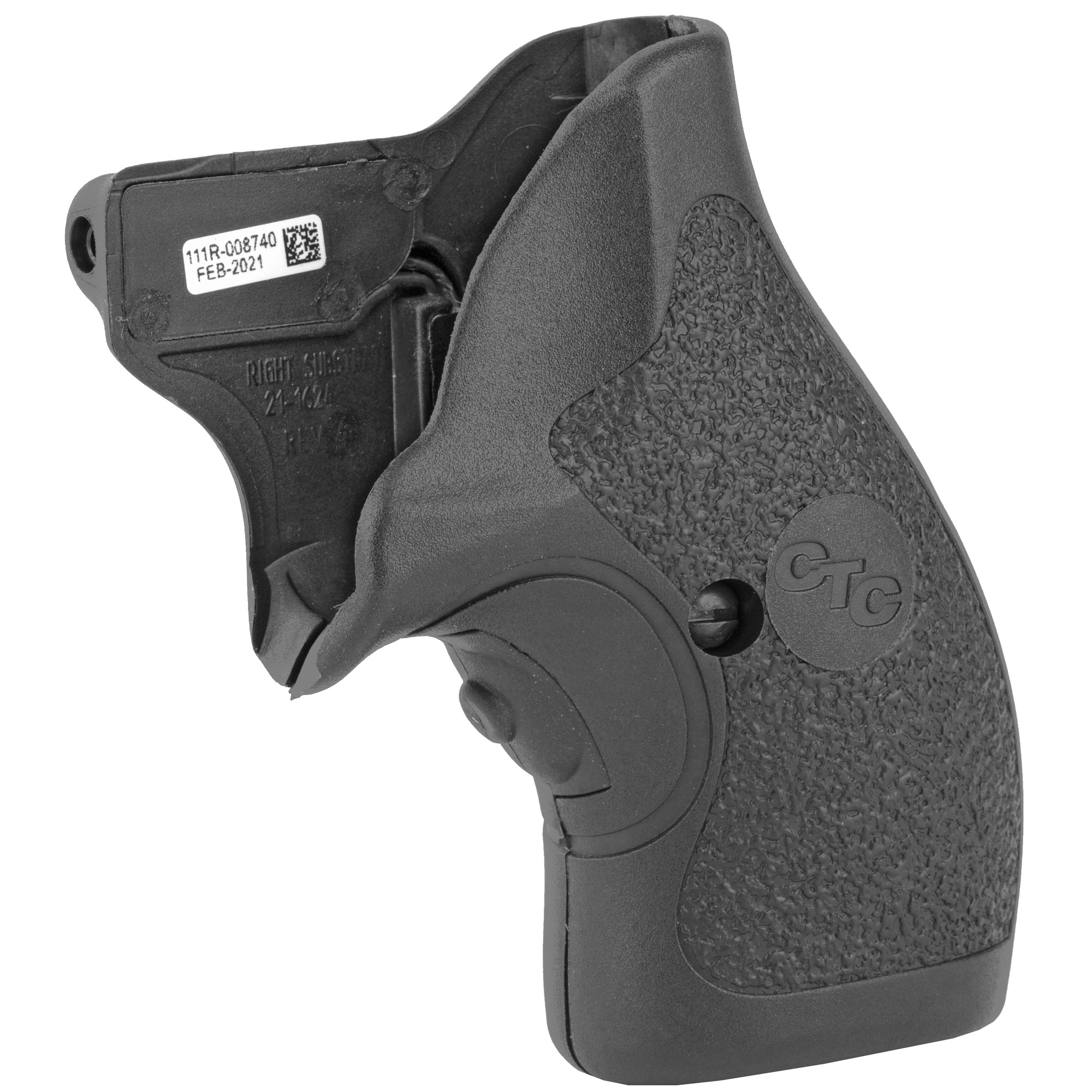 """LG-111 Lasergrips(R) for Ruger SP-101 revolvers are an ideal blend of rugged durability and ergonomic comfort. Featuring hard polymer construction"""" but with a smooth surface feel"""" the LG-111 provides for snag-free draws and the tactical advantage only Crimson Trace(R) Lasergrips(R) can offer."""