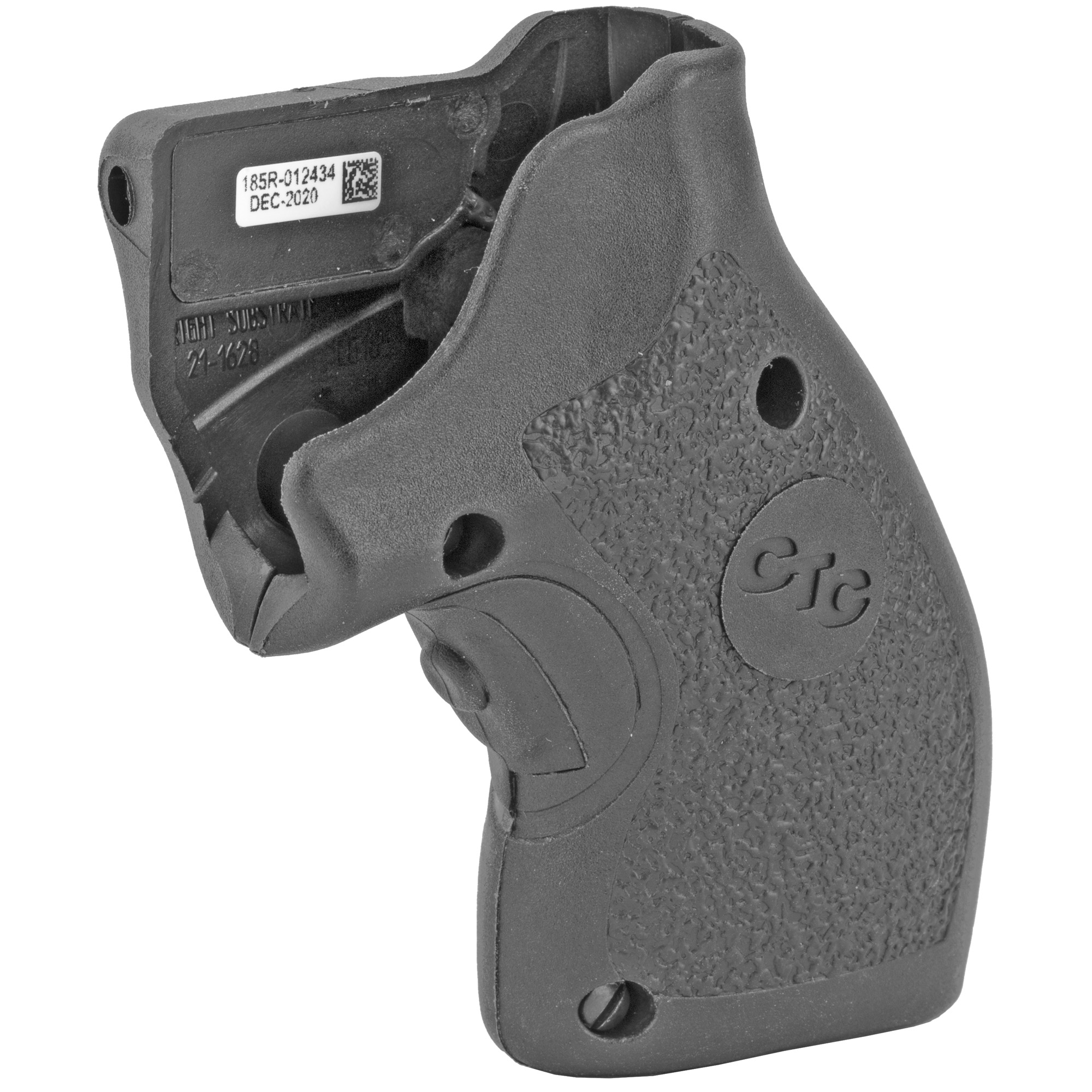 """LG-185 laser sights for Taurus Small Frame revolvers features a hard polymer surface that is rugged and well suited for personal defense. The smooth feel of the polymer provides for a prompt"""" snag-free draw. LG-185 Lasergrips(R) includes the durability"""" sighting adjustments"""" and the defensive advantage that Crimson Trace(R) is known for."""