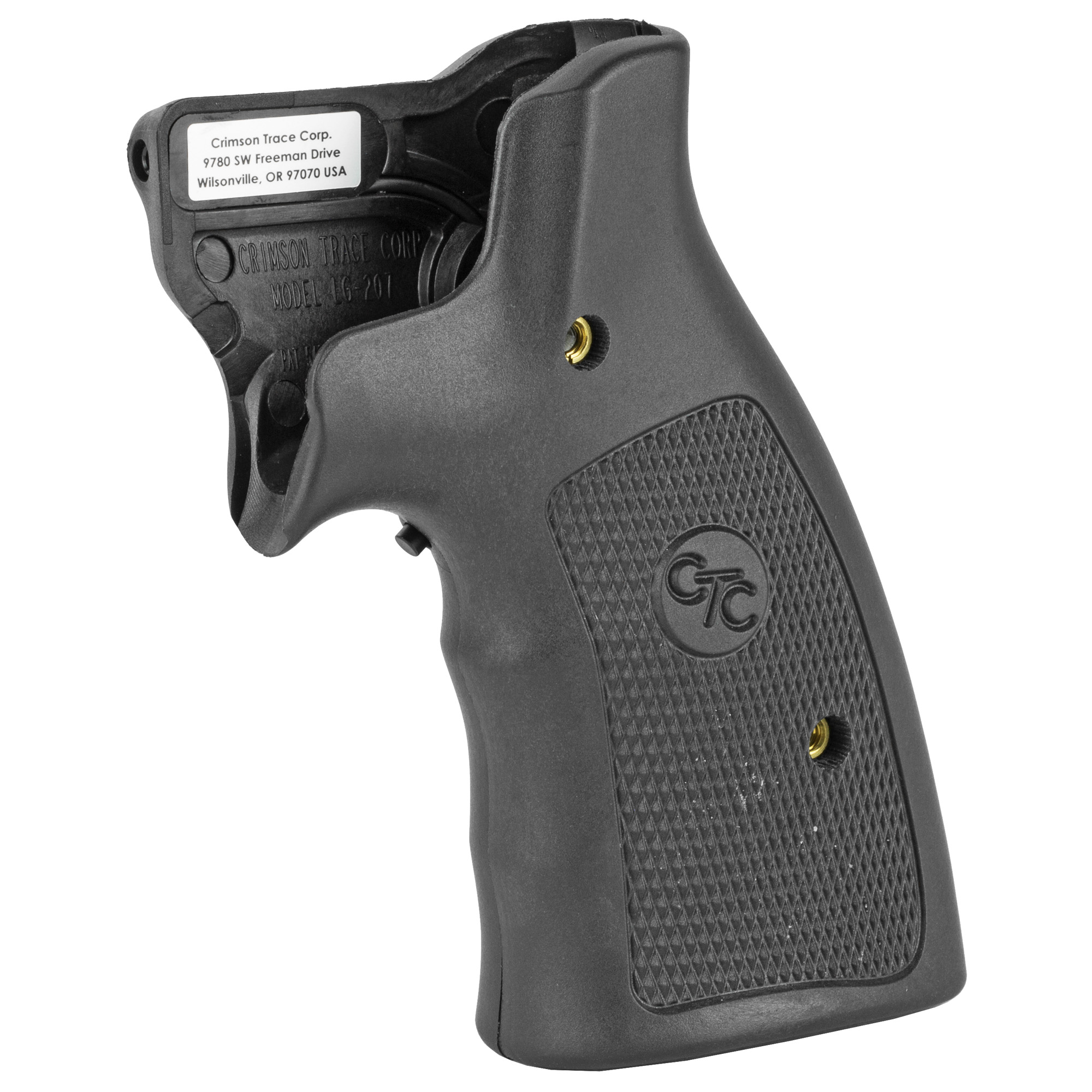 """LG-207 laser sights for Smith & Wesson K"""" L & N-Frame revolvers feature a hard polymer material that provides ideal grip security for large caliber revolvers. The laser activation switch is located in front"""" making activation """"instinctive"""" when you assume a normal firing grip on the revolver."""