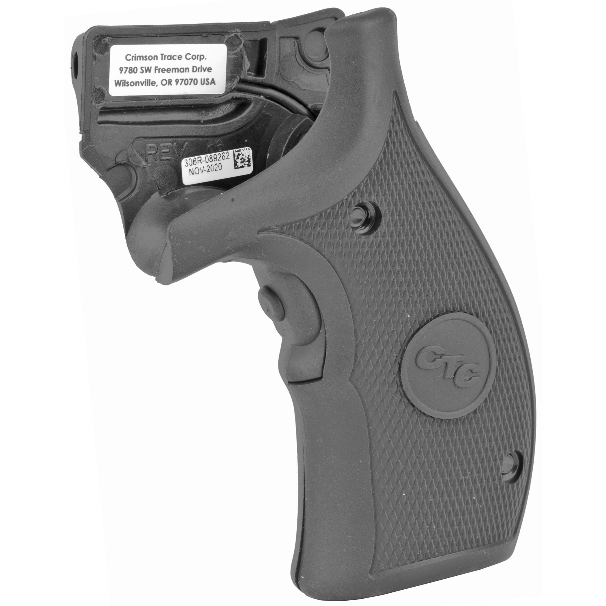 """LG-306 laser sights for Smith & Wesson K & L-Frame revolvers feature a comfortable rubber overmold on the Lasergrips(R) that is slimmed down for concealed carry ease. The laser activation switch is located in the front of the revolver"""" making activation """"instinctive"""" when you assume a normal firing grip on the revolver."""
