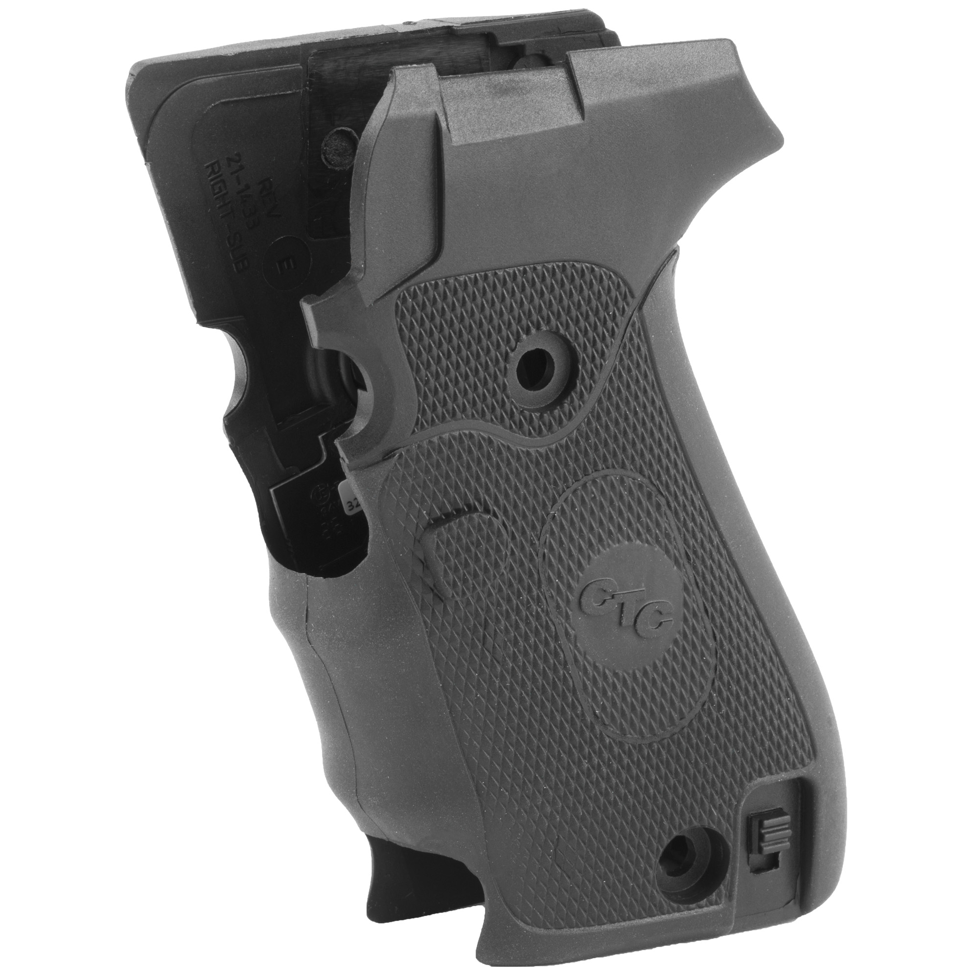 """LG-320 laser sights for Sig Sauer P220 pistols feature a rubber overmold construction around a sturdy polymer-grip frame. Providing great comfort and ergonomics"""" this grip features dual side activation allowing the laser to instinctively spring to life when the weapon is hold in a normal firing grip. The Crimson Trace LG-320 Lasergrip(R) further enhances the defensive capabilities of one of the most widely used and trusted professional and personal carry pistols in the world."""