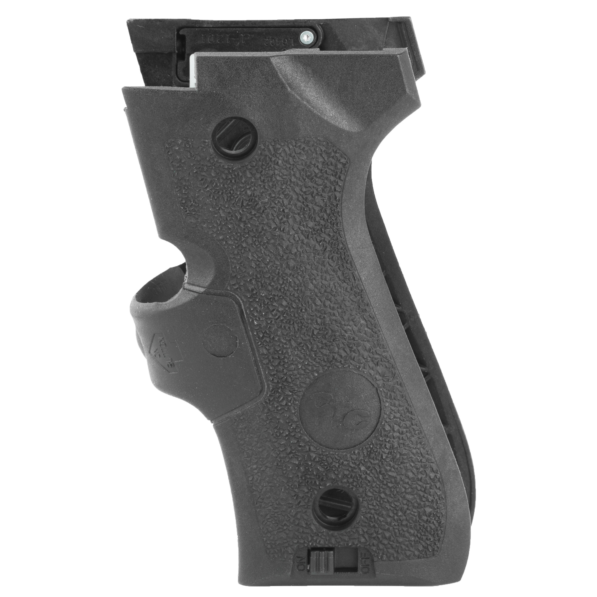 """LG-402M laser sights for Beretta 92"""" 92-A1"""" 96 and M9 are designed specifically for the demands of military* use. This model exceeds MIL-STD-810F standards for waterproofing"""" dust/salt/fog resistance and high/low temperature operation. Compared to our standard LG-302 Lasergrips(R) for Beretta"""" this model features a more prominent rubber-overmolded front activation switch and aggressive textured side-panels"""" which are designed for maximum control with or without gloves. Under extreme testing"""" the LG-402M worked flawlessly under adverse conditions"""" providing instinctive activation and fast"""" accurate target acquisition."""