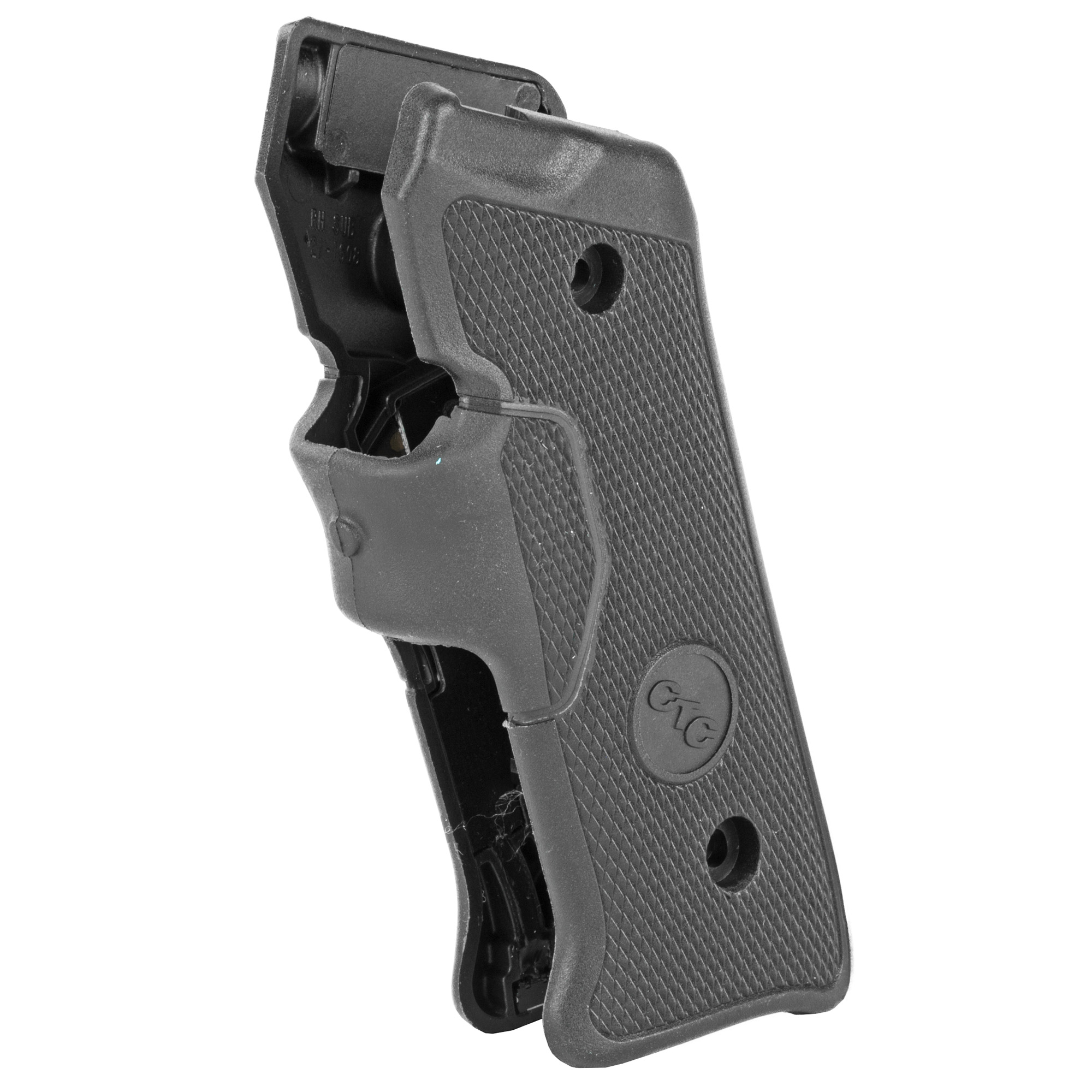 """LG-403 laser sights feature an instinctive front activation front strap switch for the Ruger Mark II and Mark III pistols. Rugged hard polymer side panels are fused with a durable rubber activation strap for excellent ergonomics with supreme durability. Whether you use your Ruger for plinking"""" hunting or professional purposes"""" LG-403 Lasergrips(R) provides a higher level of accuracy and faster target acquisition. Will not hinder fit on most holsters."""