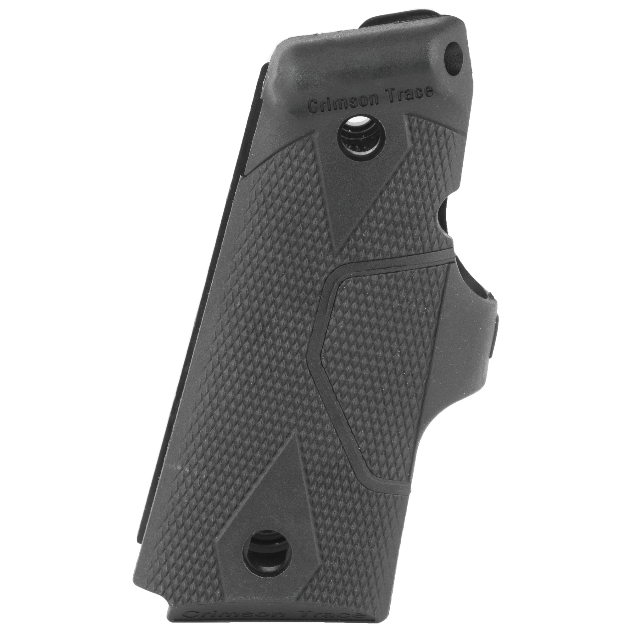 """The flagship LG-404 is Crimson Trace's most popular 1911 laser sight model for Officer's"""" Compact and Defender variants. Featuring rugged polymer side panels and a rubber-overmold activation button"""" these are the recommended Lasergrips(R) for most 1911 shooters. Standard to Crimson Trace(R) Lasergrips"""" the LG-404 features instinctive activation. This means that the laser sight automatically springs to life when the weapon is held in a natural firing grip. This product is not compatible with ambidextrous safety levers."""