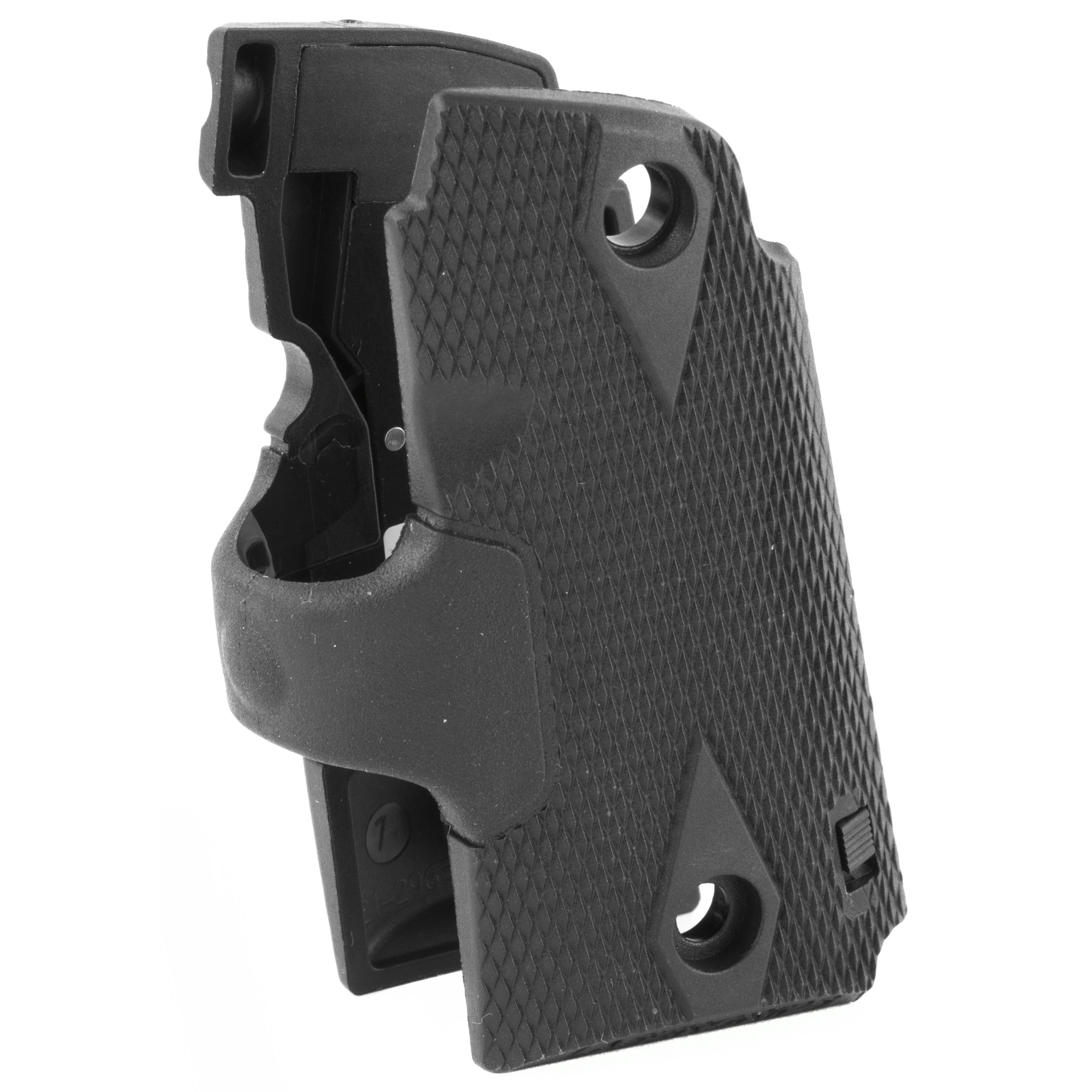 """LG-409 Lasergrips(R) are the ultimate laser sight for one of the finest concealed carry handguns available - the Kimber Micro 9. Among our slimmest Lasergrips(R) ever"""" the LG-409 features a rubber overmold front activation pad fused with durable polymer grips. User-installed in minutes"""" Lasergrips enhance the defensive capabilities of the compact Micro line of pistols. This model is specifically designed for Micro 9mm models. Please see model LG-478 for Micro .380 models."""