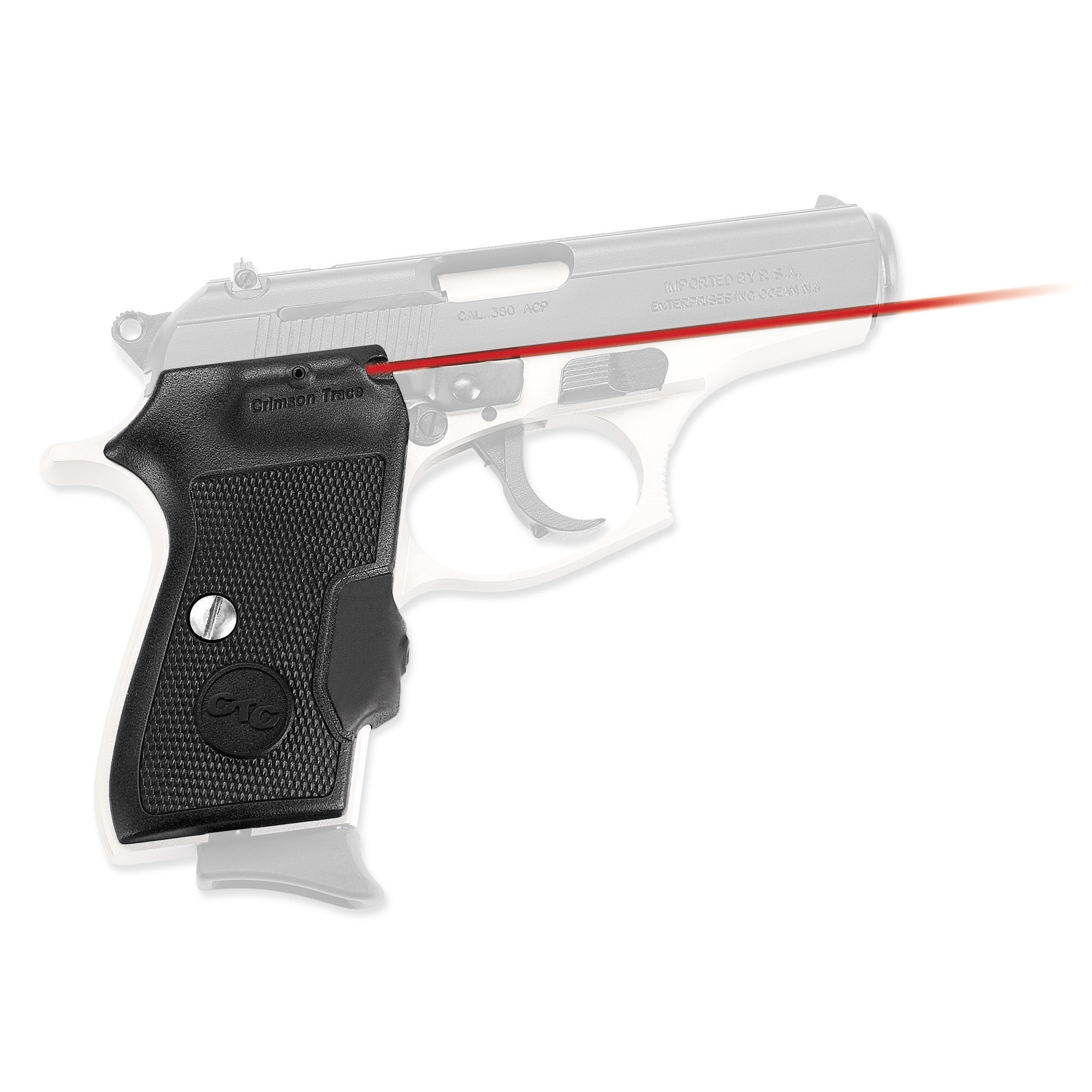 The LG-442 laser sights for the small but venerable Bersa Thunder and Firestorm .380 pistols are designed to maximize your secure firing grip on the pistol. Laser activation is instinctive with a rubber overmold front pressure switch in the Lasergrip(R) that springs to life has you hold the weapon in a natural firing position. Hard polymer side grip panels with deep checkering grooves promote a comfortable grip and smooth draw for your Bersa pistol.